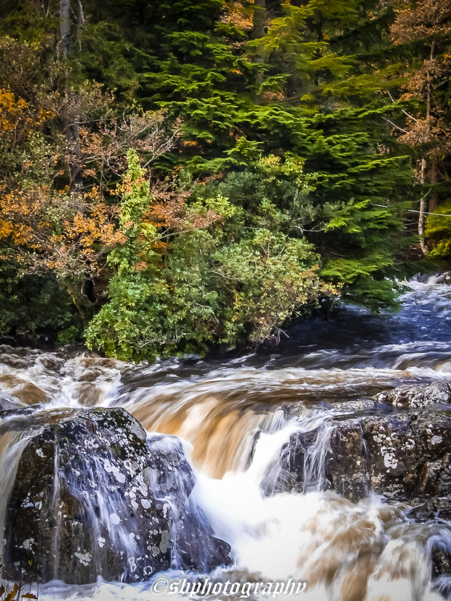 waterfall Betws-y-Coed Wales. UK by shaun