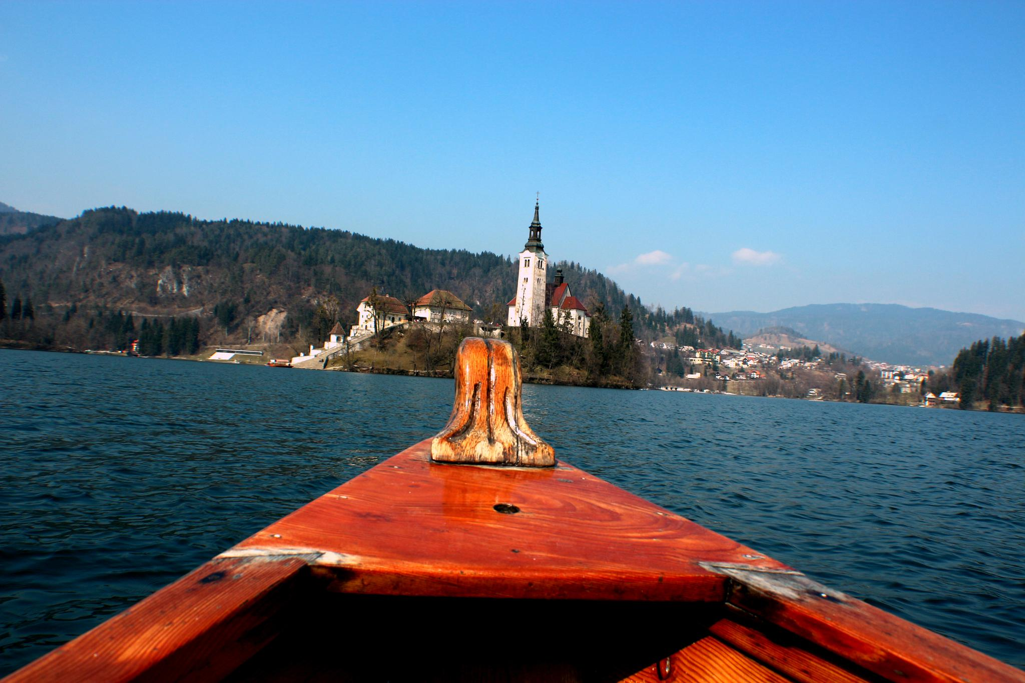 Bled island over the prow  by Andraž Sodja