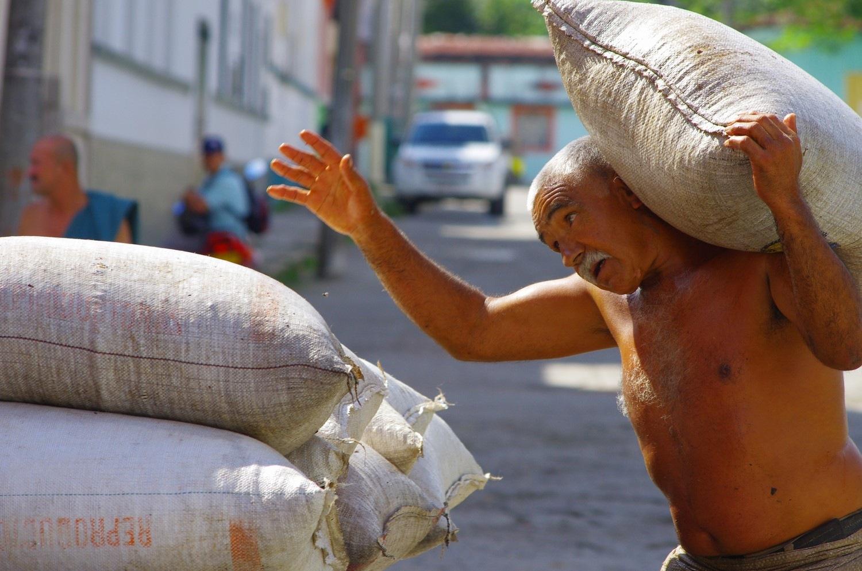 Loading coffee in Colombia by Dan Steeves