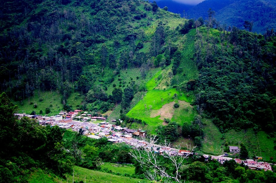 Little town in the Andes of Colombia by Dan Steeves