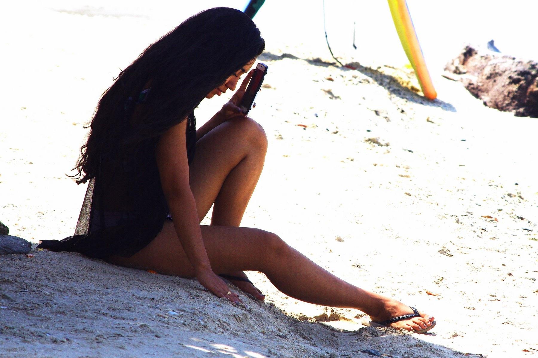 Girl on the beach by Dan Steeves