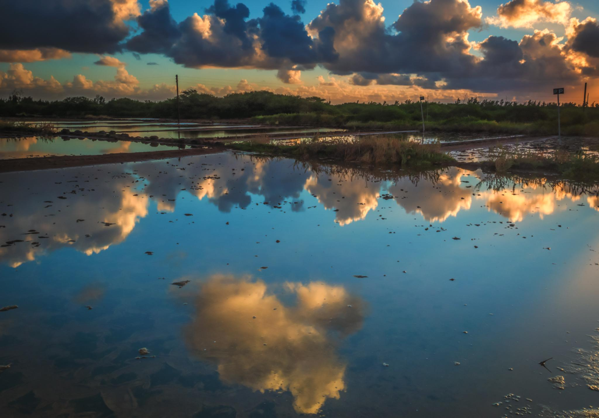 Reflection in salt pans by desire.lilyman