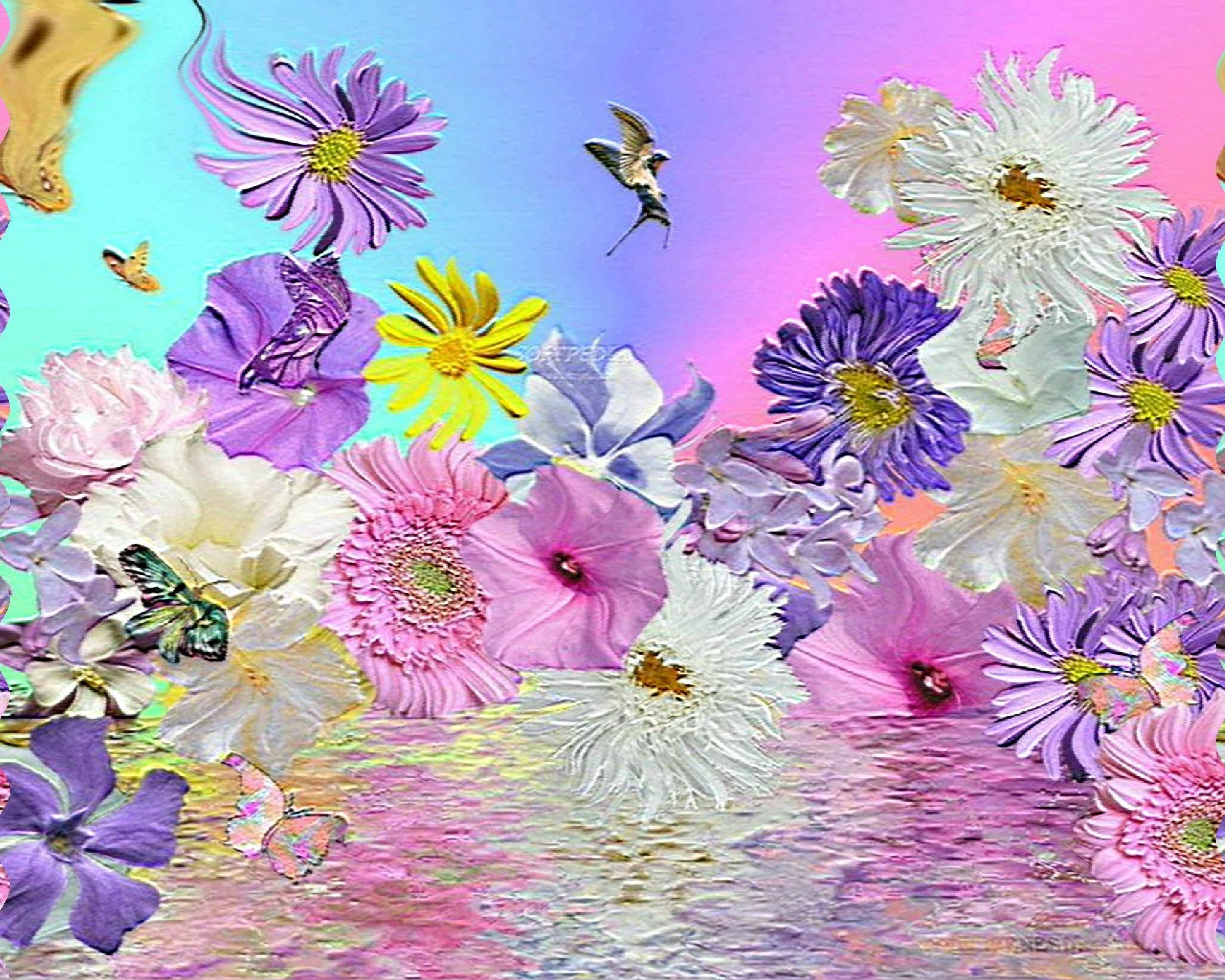 Floral Reflection by mozingo1