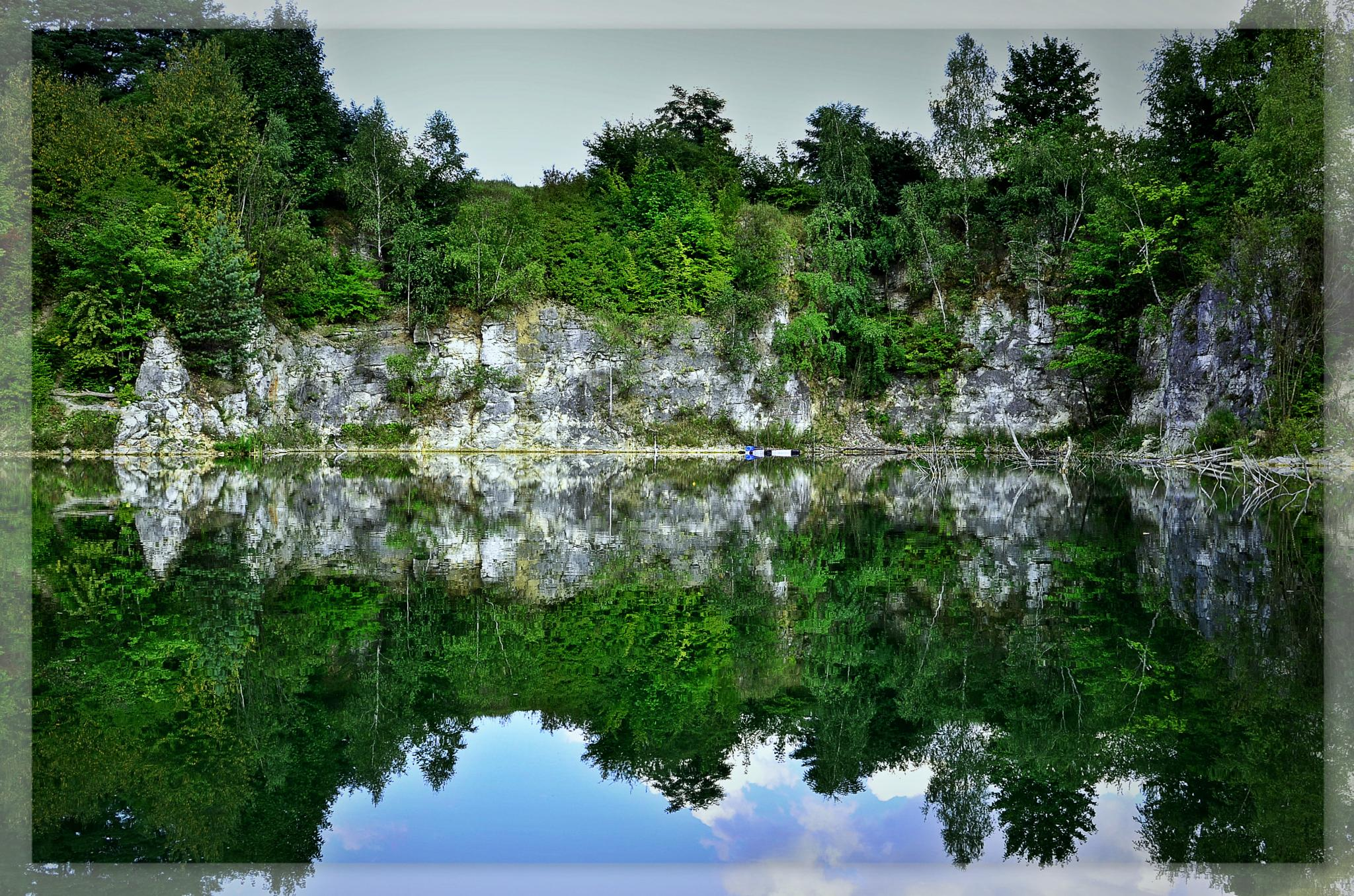 lake in the abandoned quarry in Zabierzów near Cracow by barbara.pajchert