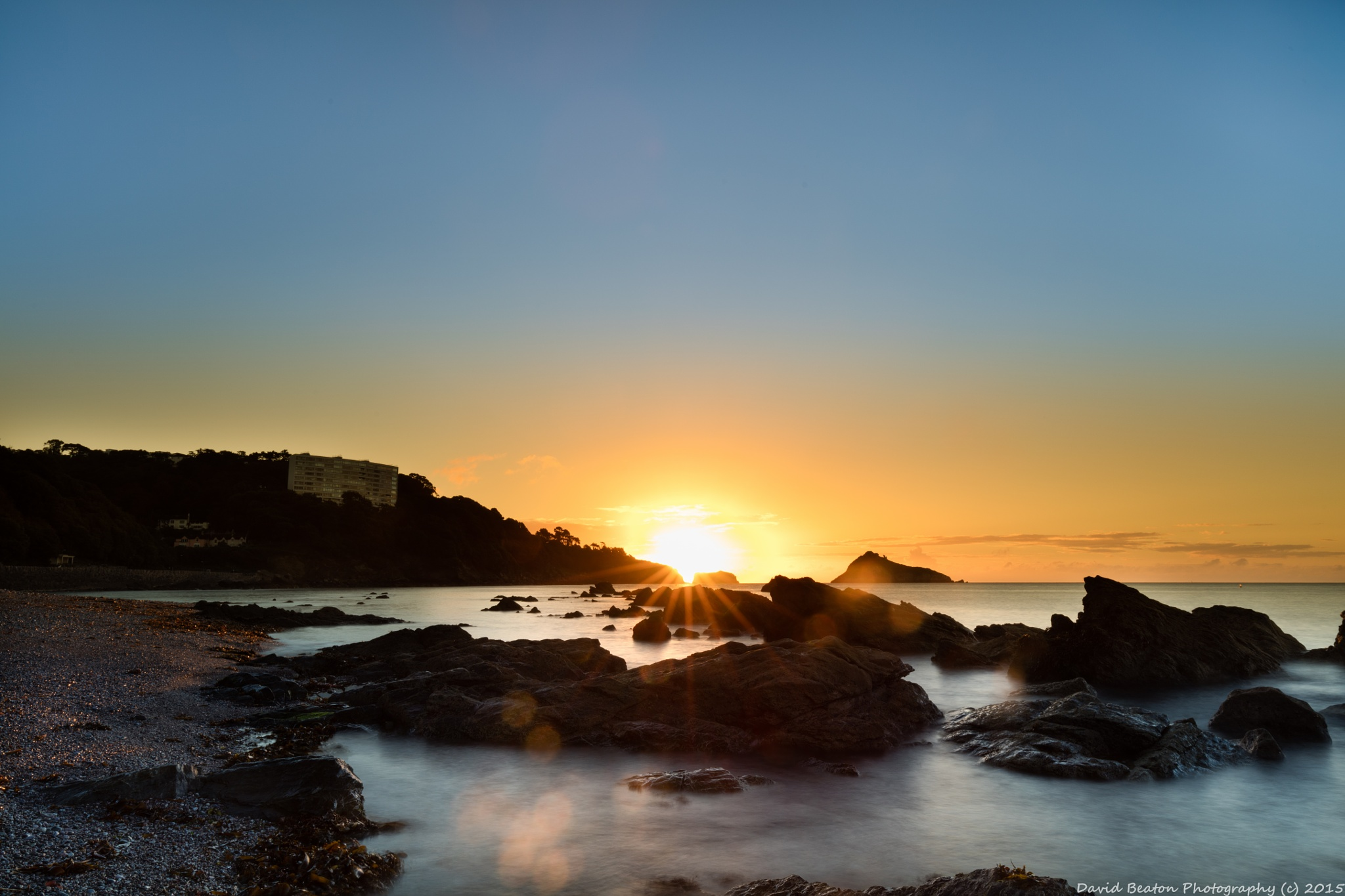 Sunburst at Meadfoot Beach - Torquay by messedupmojo