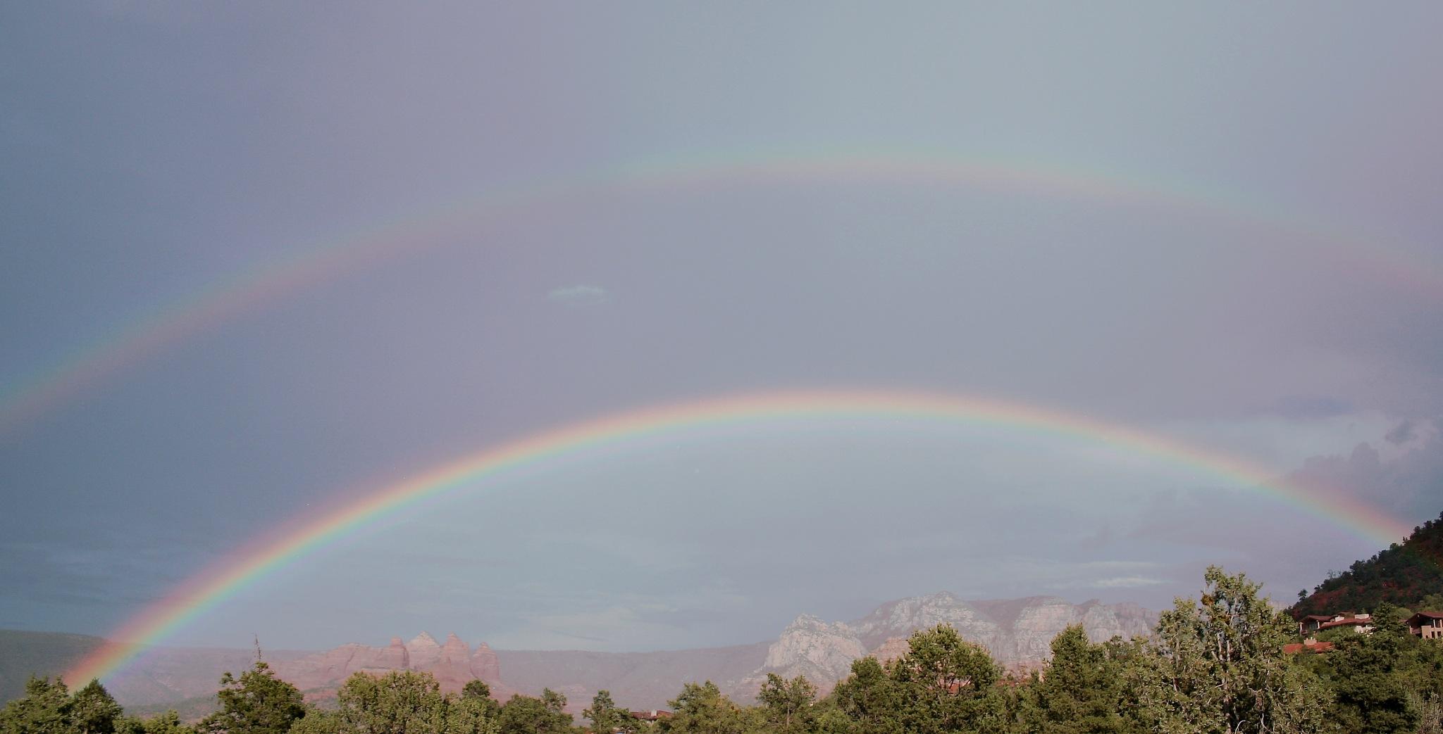 Double Rainbow Over Sedona by molterserrano