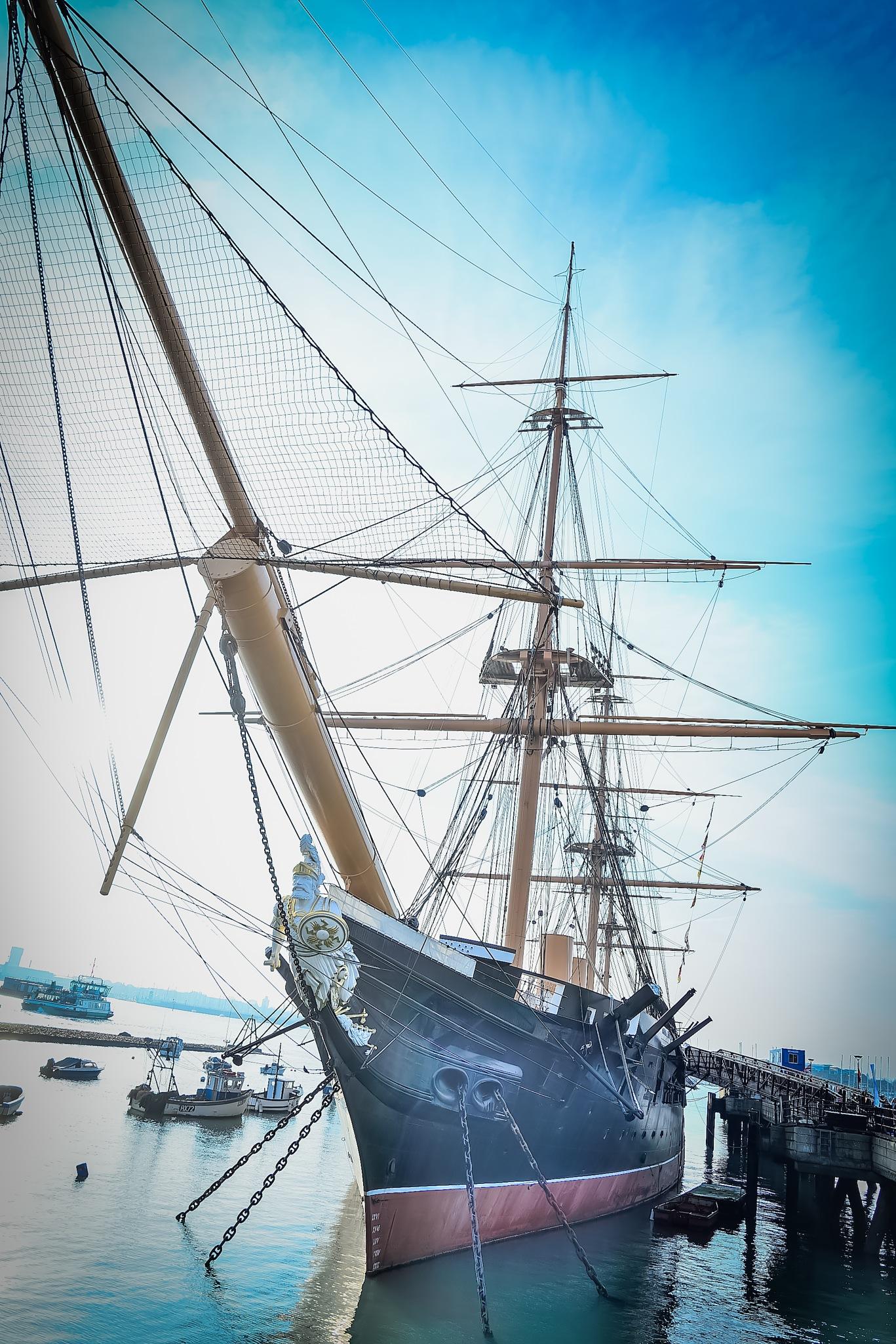 HMS Warrior (1860) by Mihai Sirb