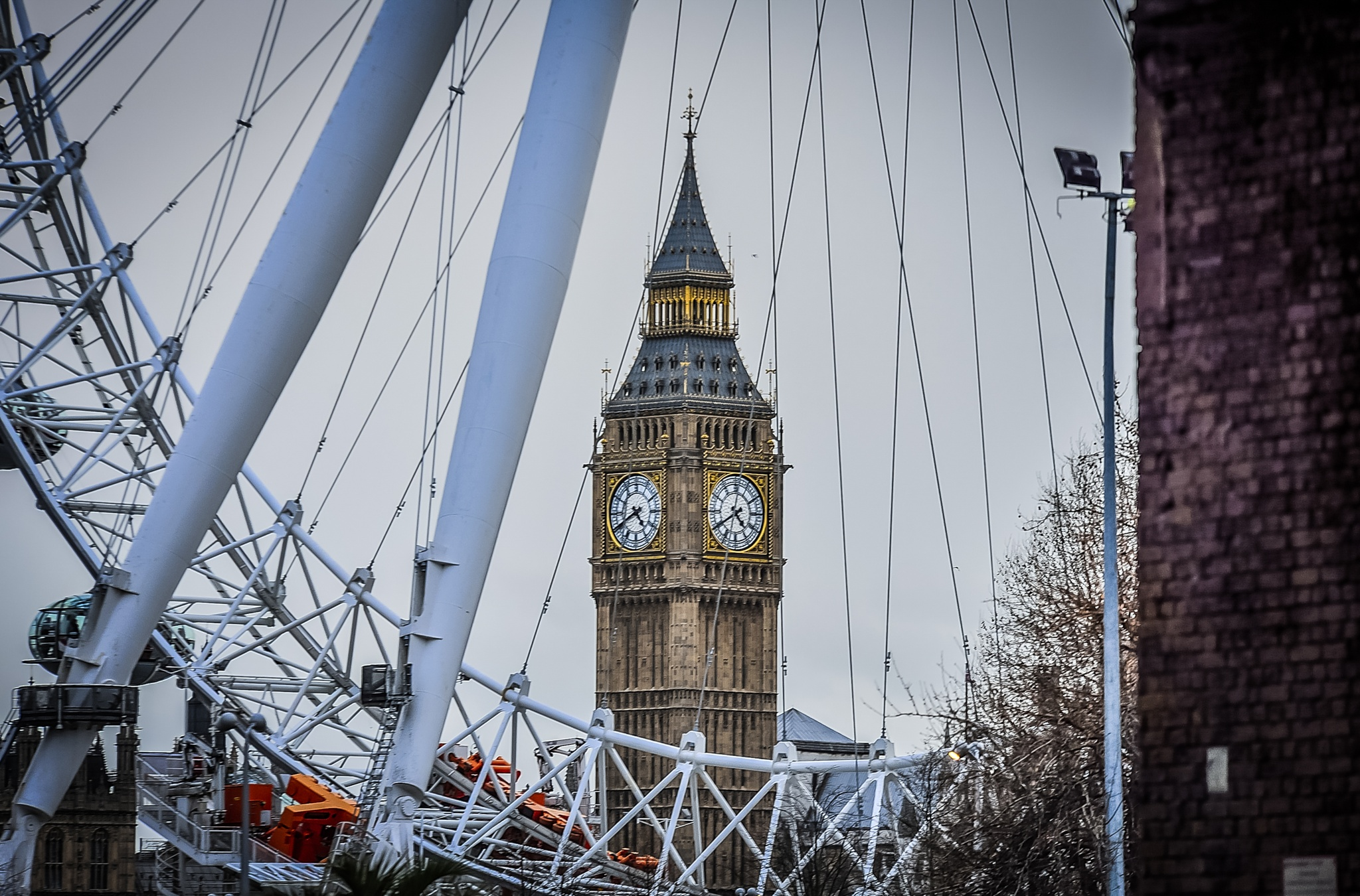 Eye and Big Ben London by Mihai Sirb