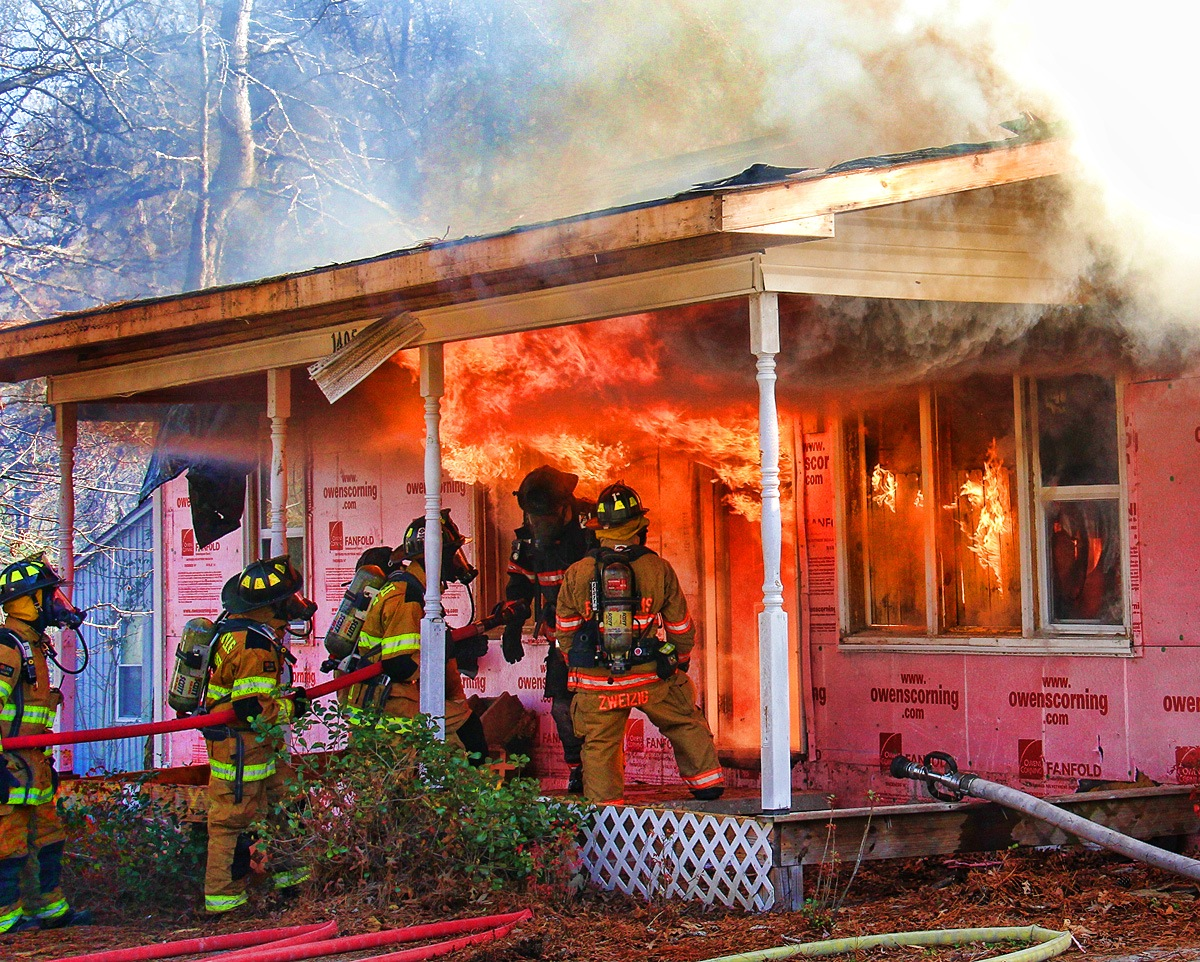 Fighting the Blaze by Tom Caperton