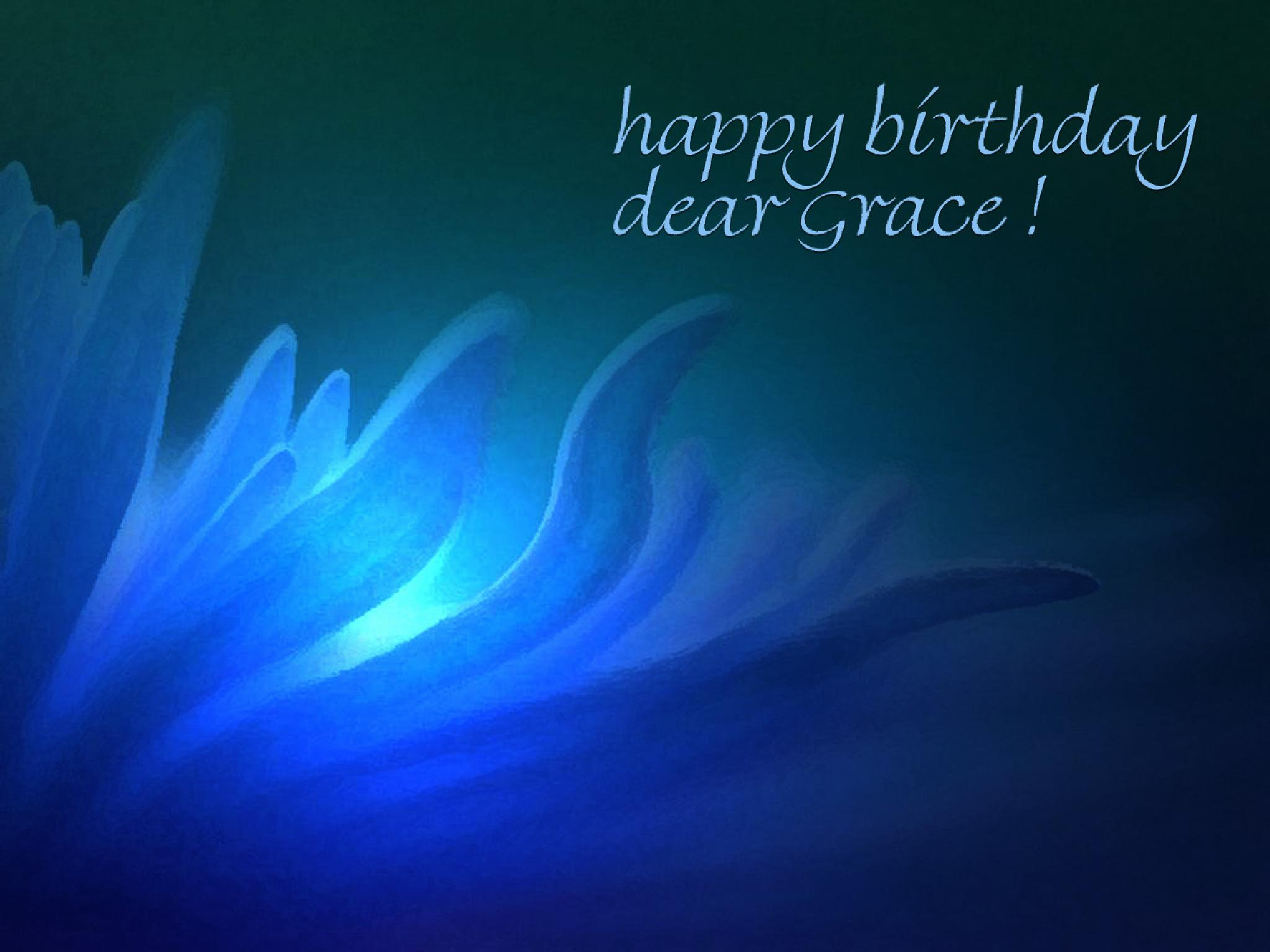 To Grace Olsson on her birthday by Rauf