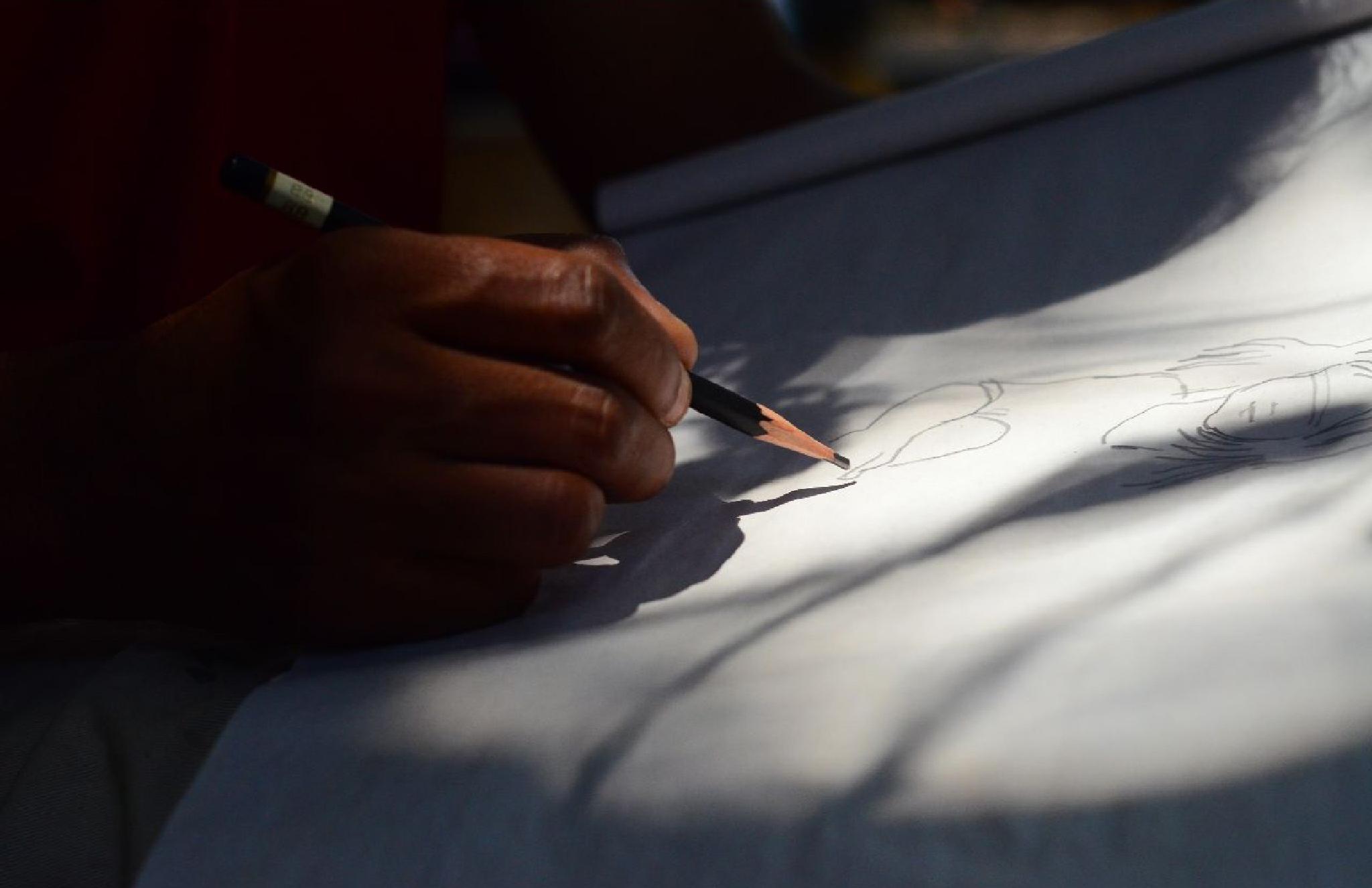 Budding artist by Rauf
