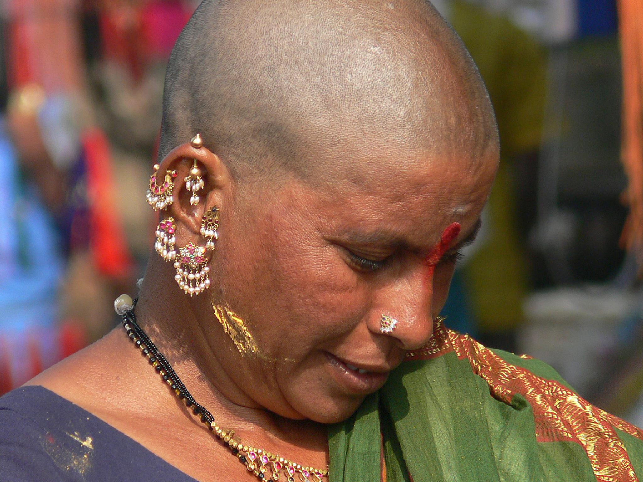 Tirupati head shave.  by Rauf