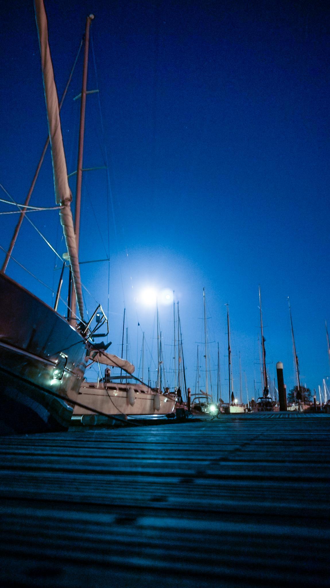 Moonlight Harbour 3 by Steve Garratt