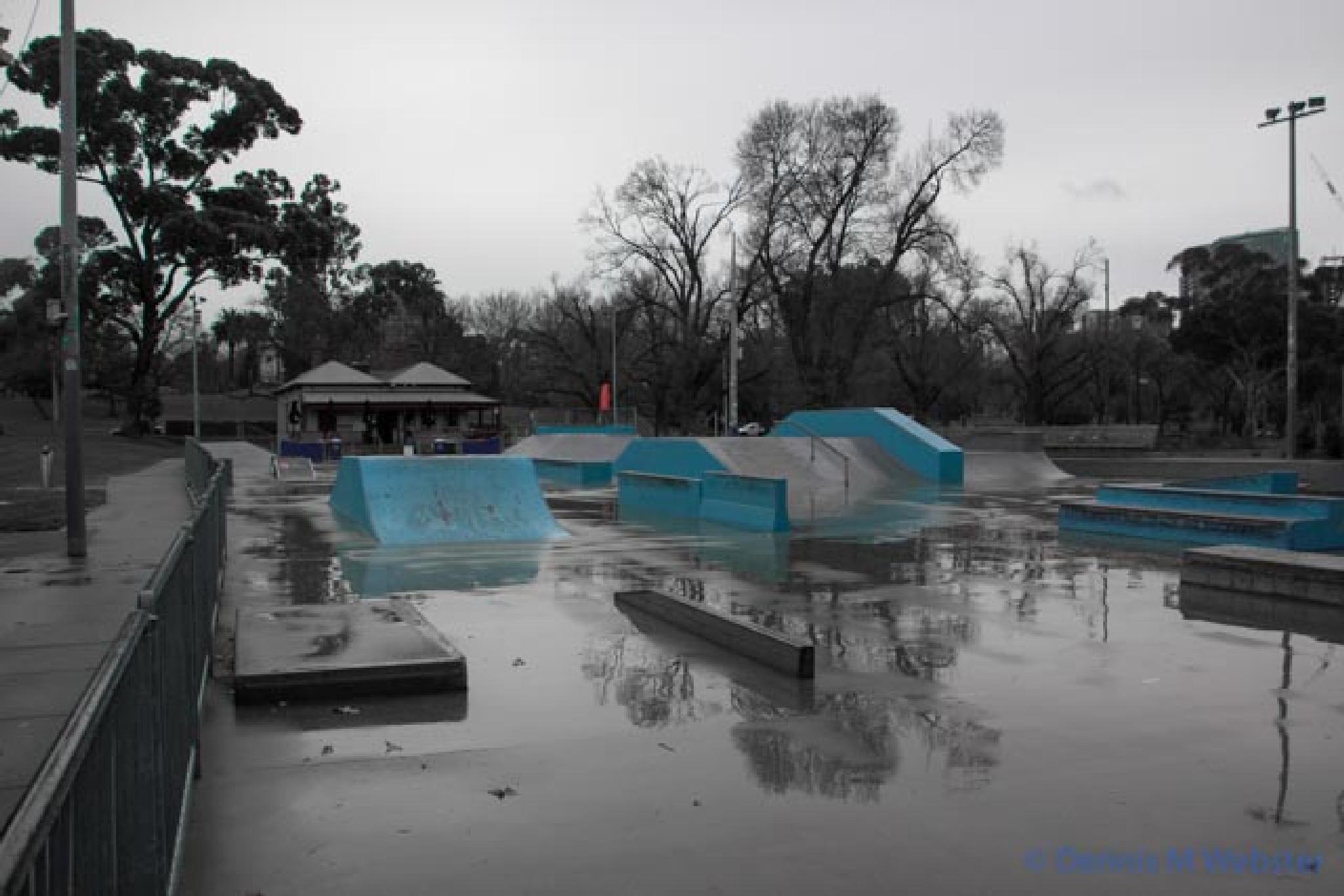 Photo in Cityscape #alexandra gardens #melbourne #cold #wet #winter #light blue #gloom