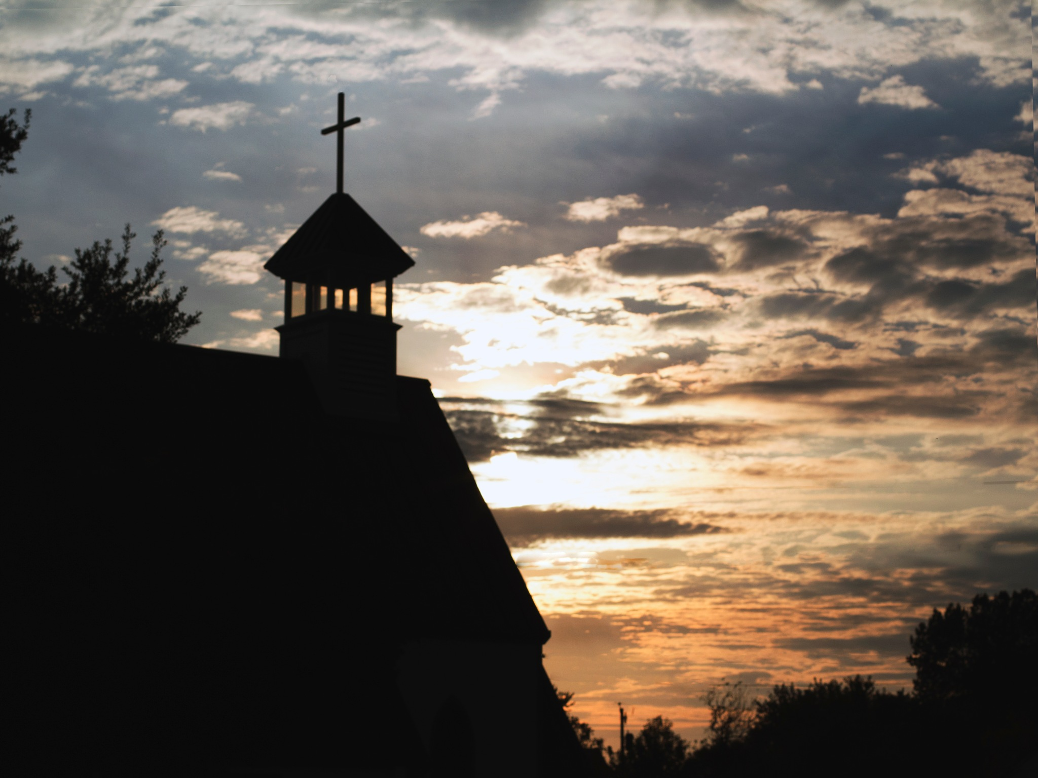 Church silhouette by Mary Carter