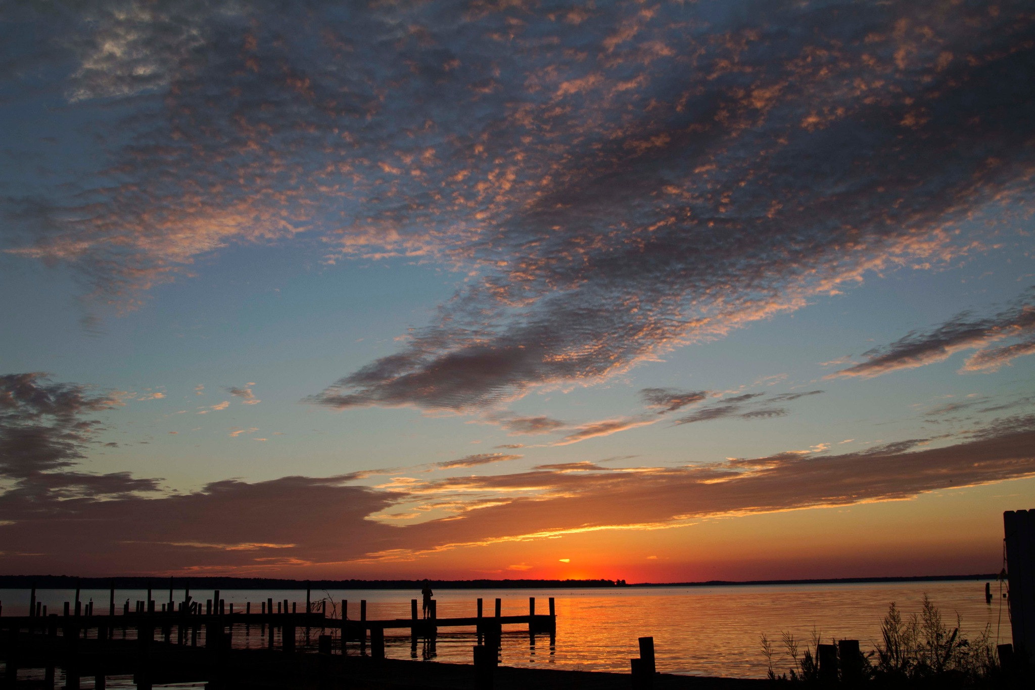 Autumn sunset #2 by Mary Carter