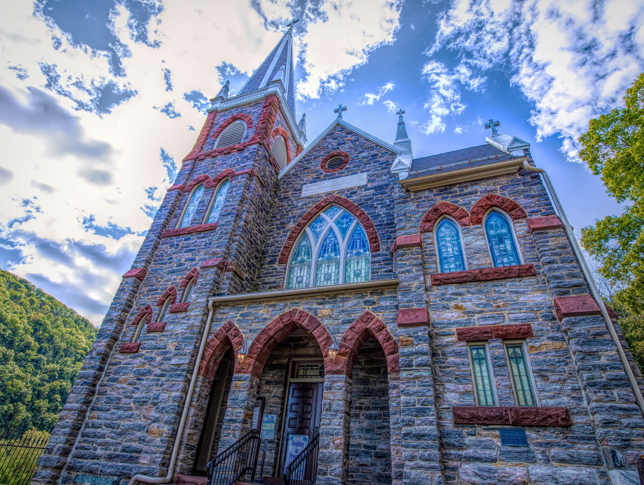 St Peters Catholic Church, Harpers Ferry WV by Mary Carter