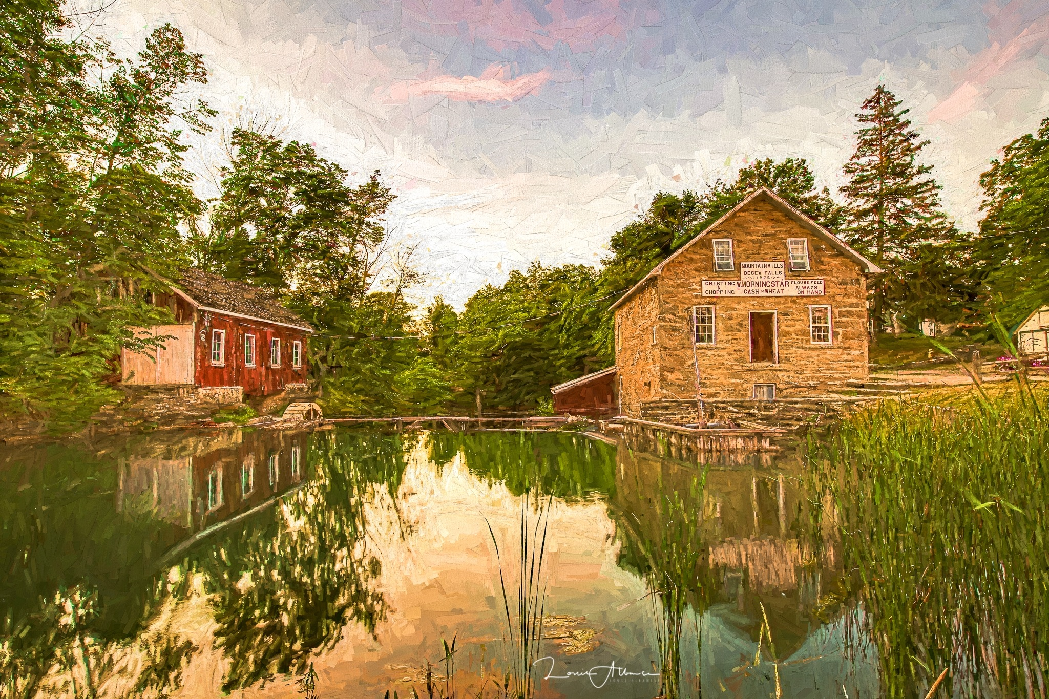 Reflections-Sunset at Morningstar Mill by NakinaManitou