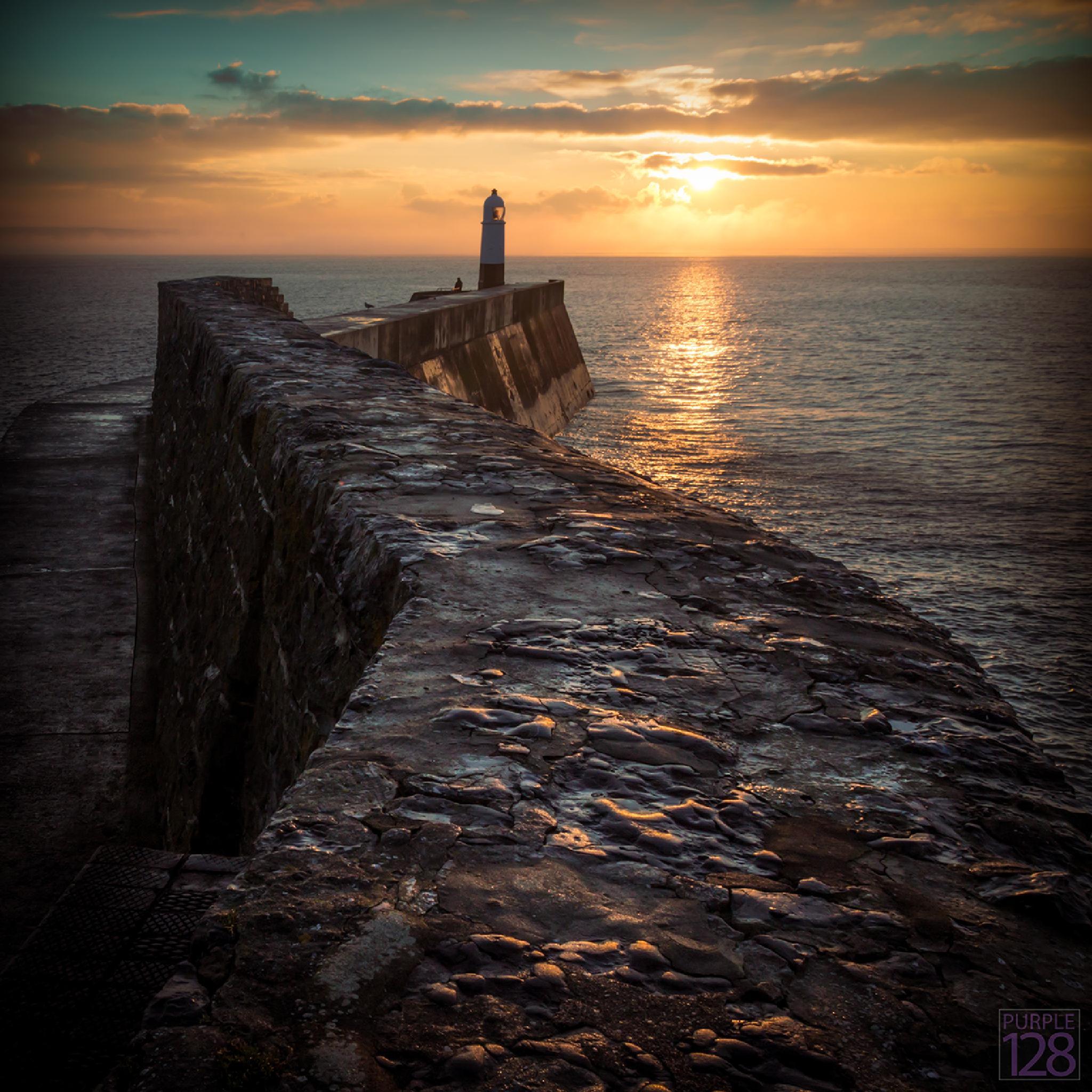 Porthcawl Lighthouse Sunrise by Purple128