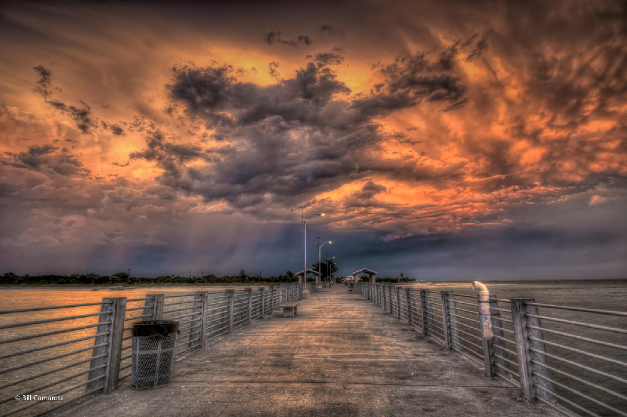 Angry Skies Over The Pier by bill.camarota
