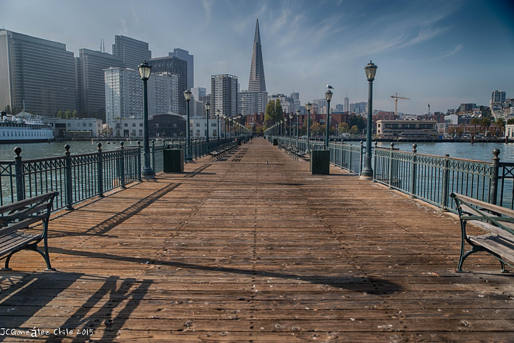 The Transamerica Pyramid is the tallest skyscraper in the San Francisco skyline. The building no lon by JuanCaPhotography