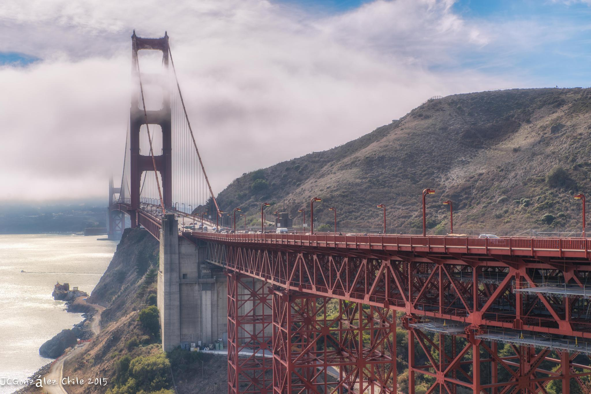 A view of the Golden Gate Bridge  by JuanCaPhotography