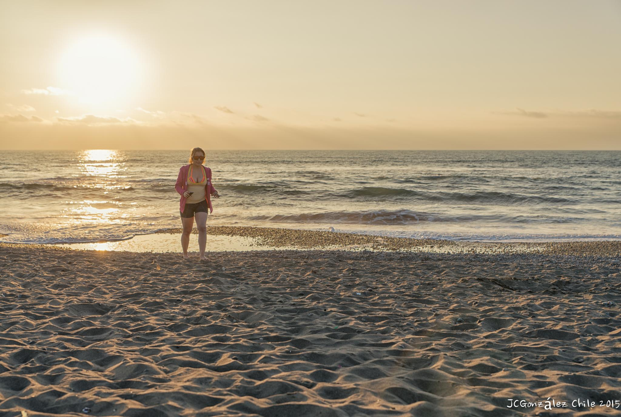 Workout at the beach (sunset) by JuanCaPhotography