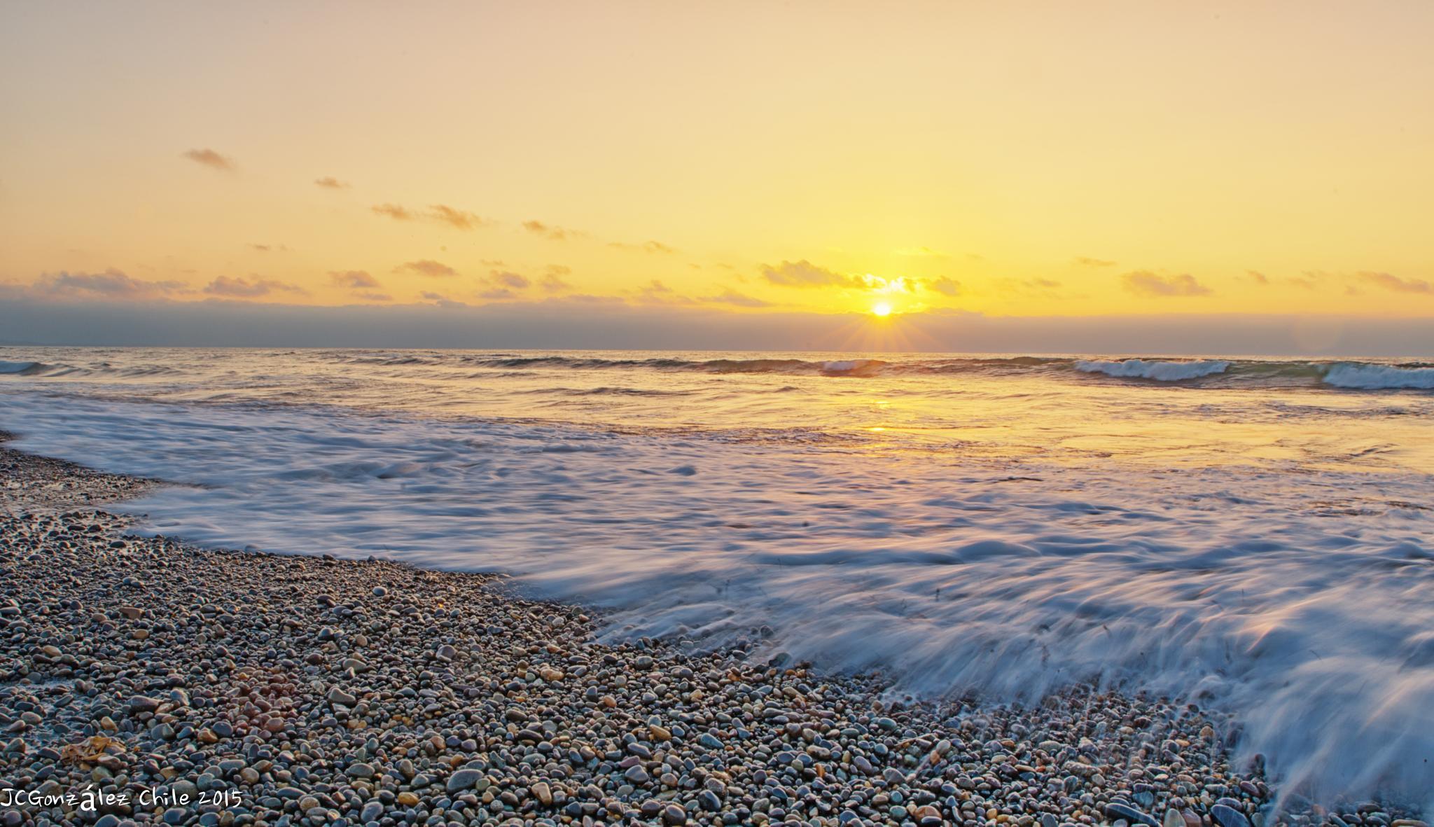 Sunset at Santo Domingo Beach by JuanCaPhotography