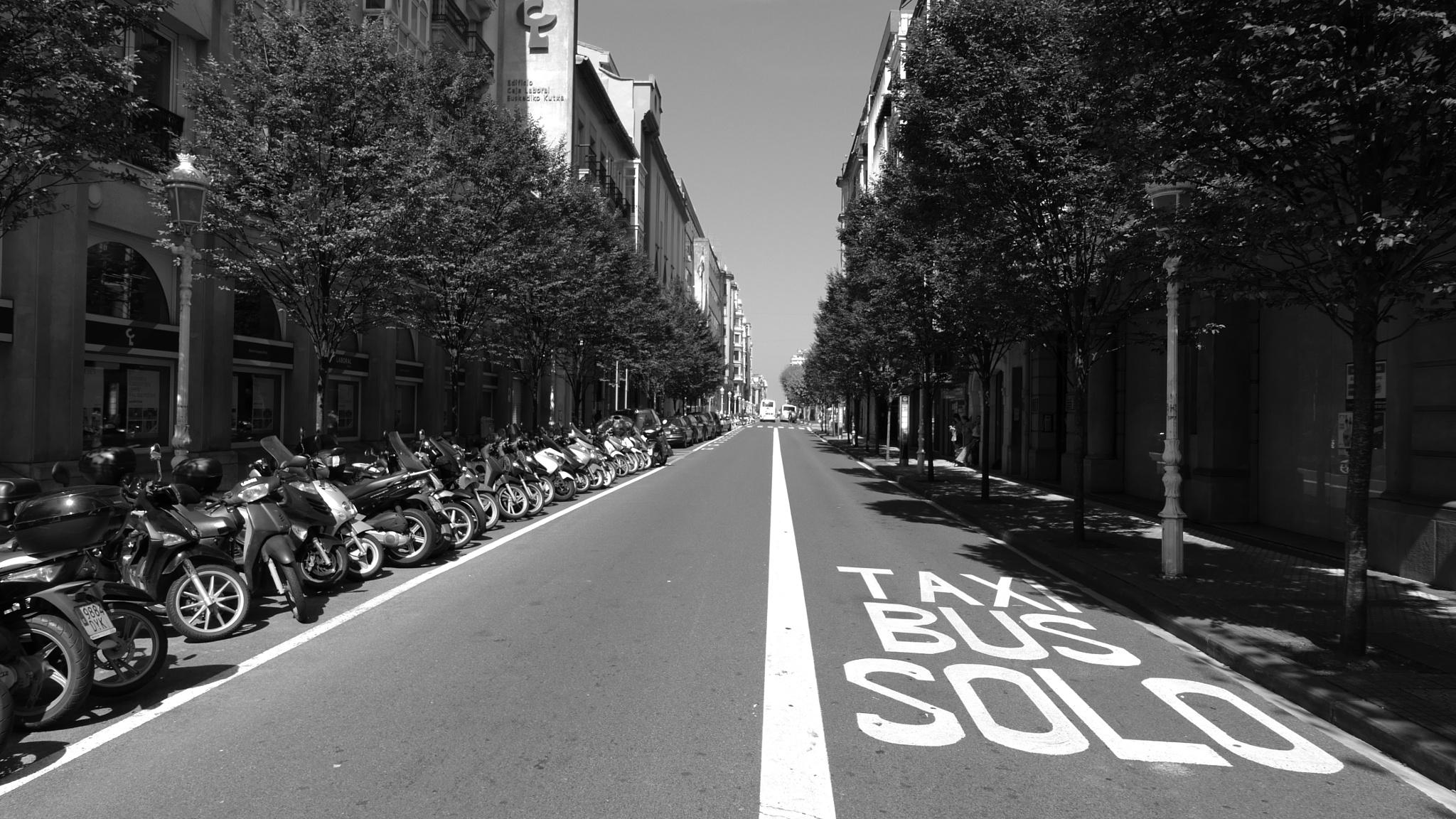 Bus Lane, San Sebastián  by tony cullen