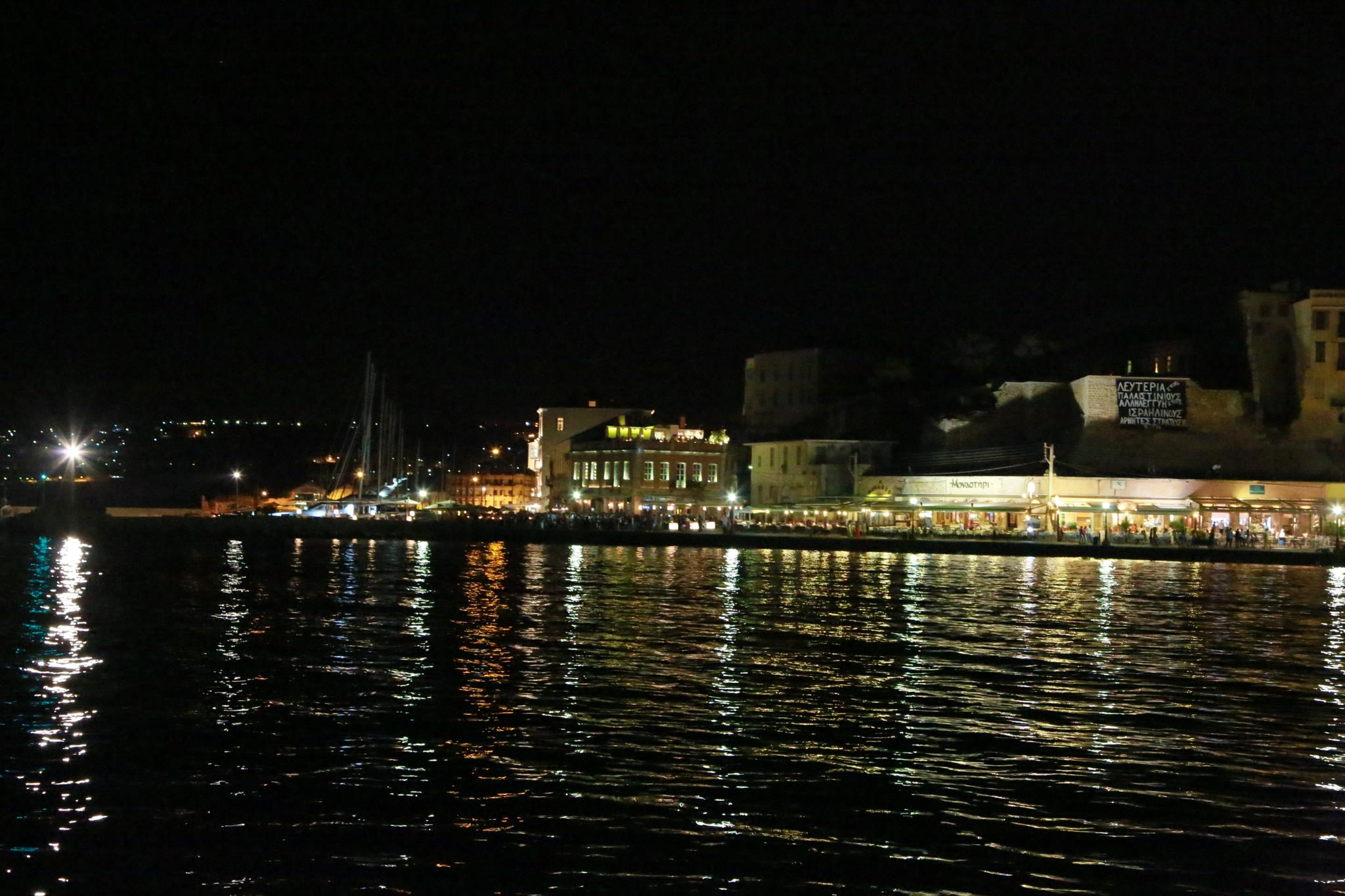 Chania Harbour by Peter Barry