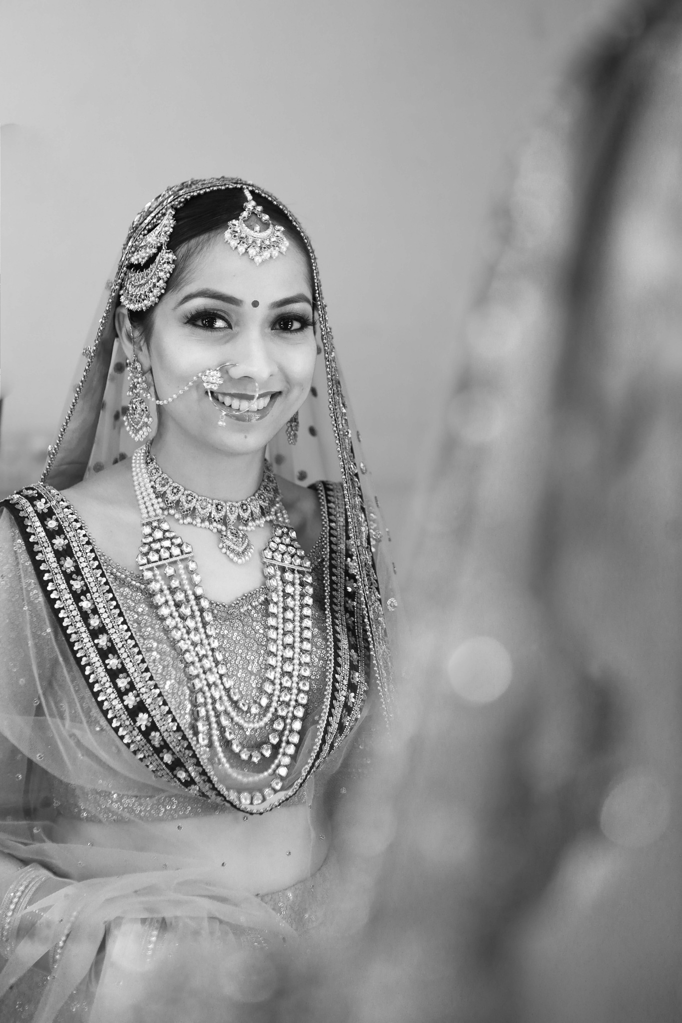 bride in mirror  by Amit Batra