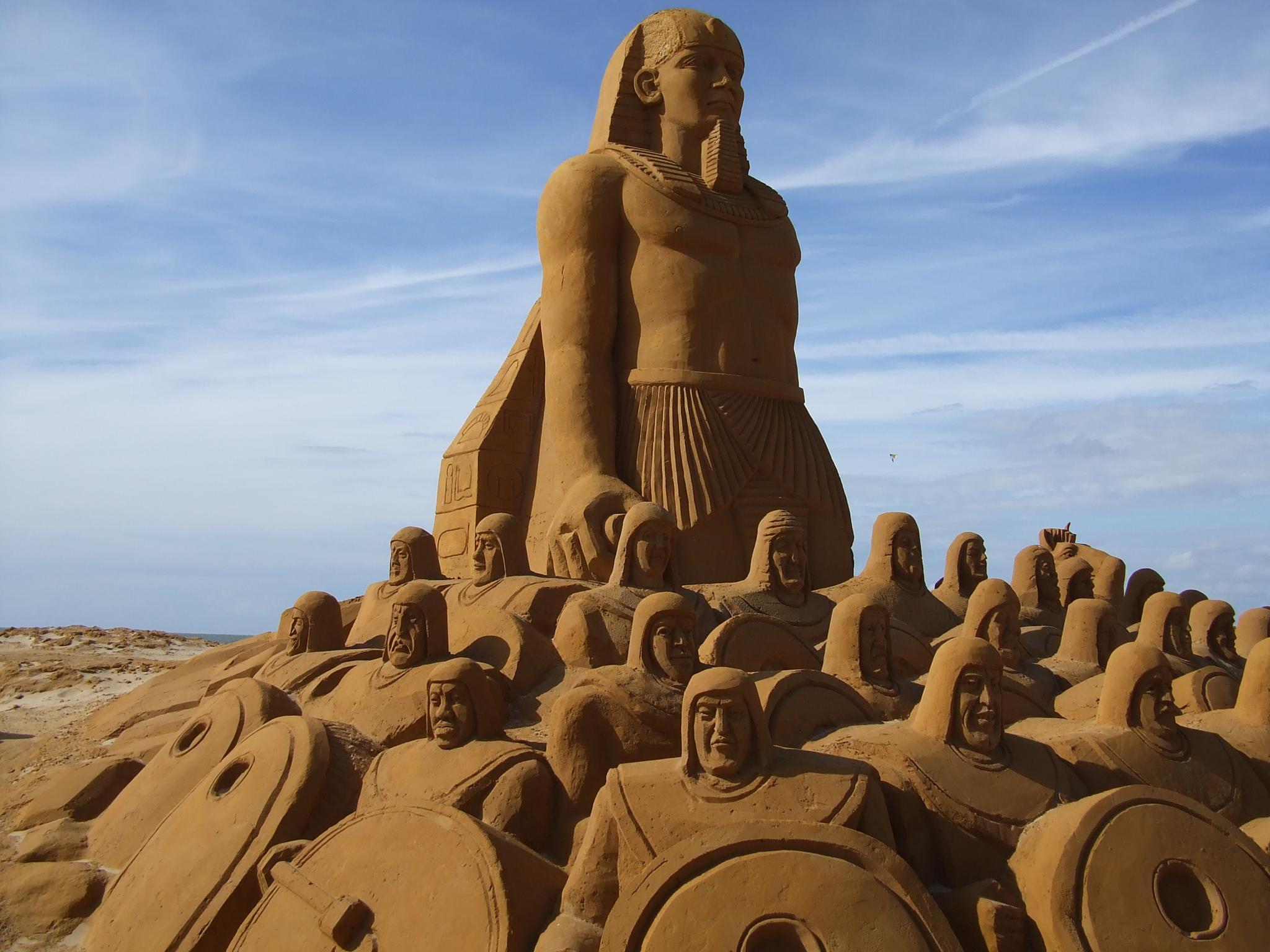 Beach sand sculpture by Bogfrog