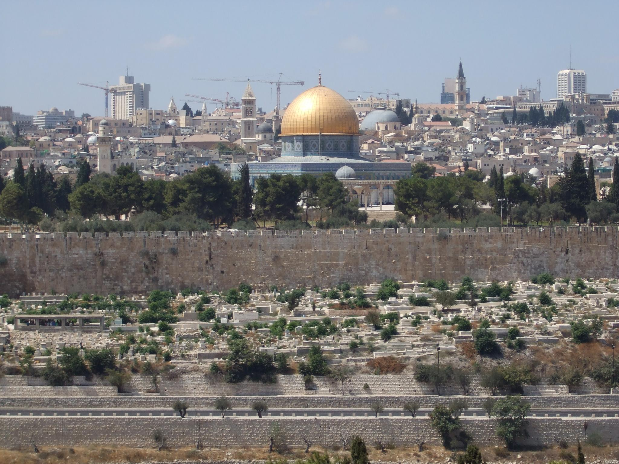 View from the mount of Olives by Bogfrog