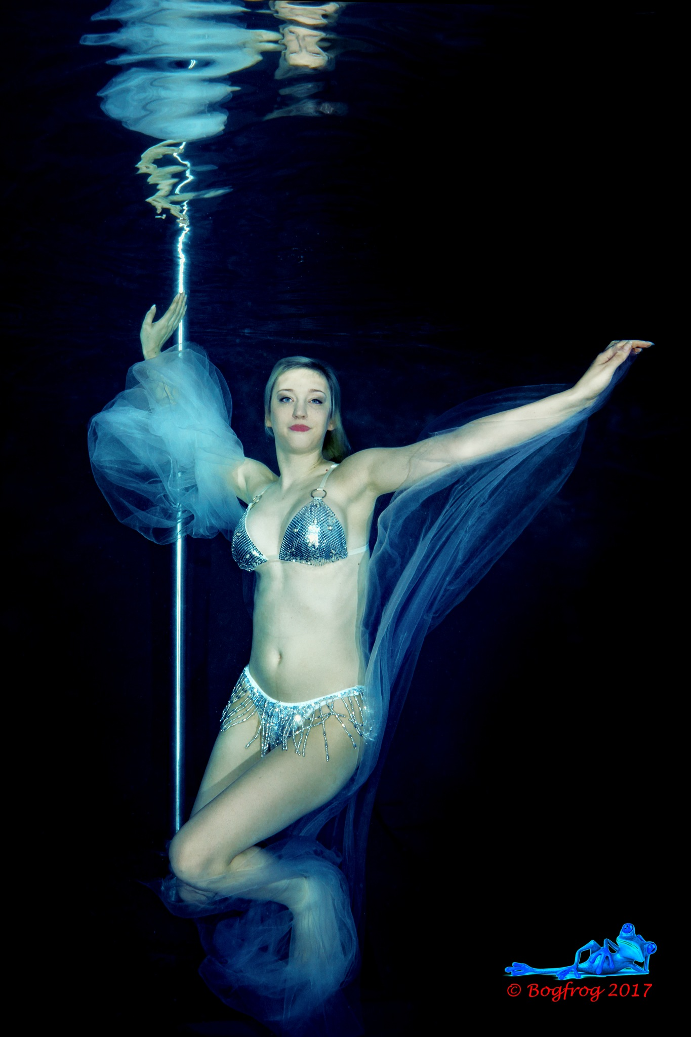 Underwater pole and fabric by Bogfrog