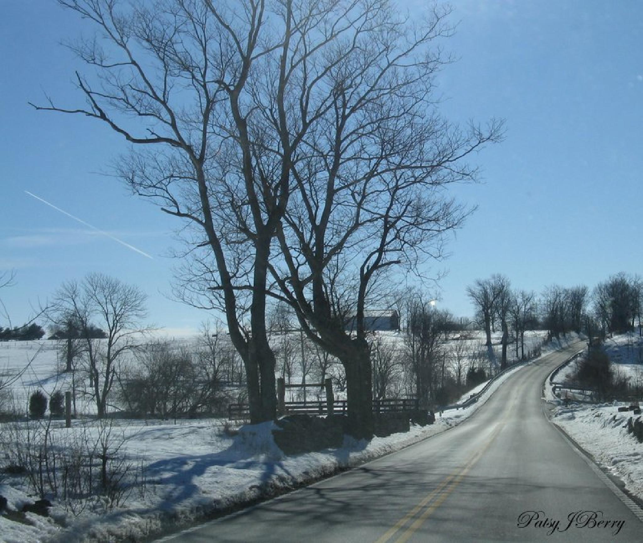 Kentucky back roads in snow by Kat
