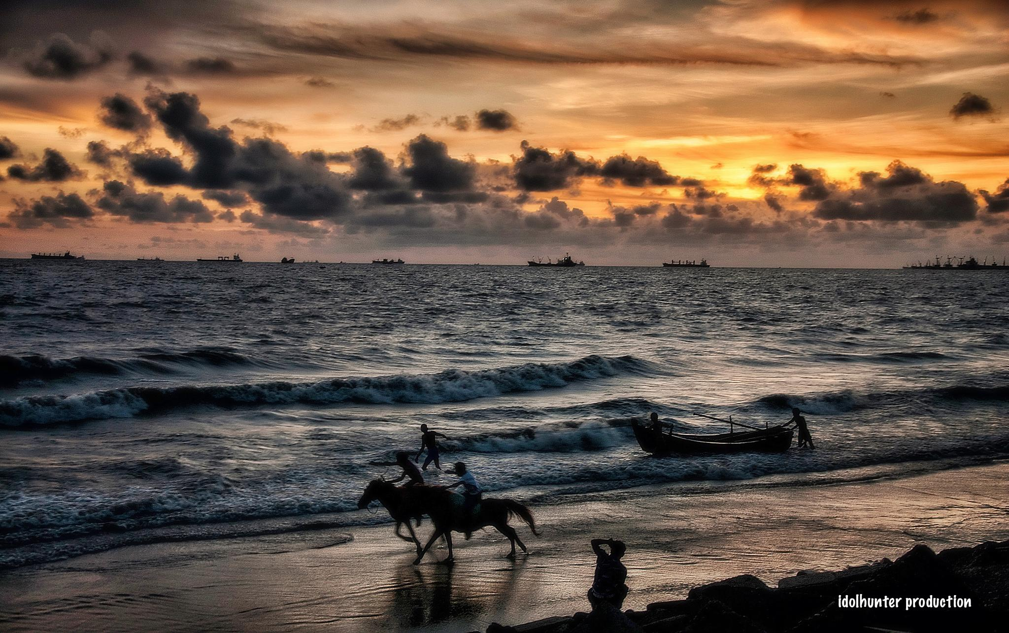beach racing by idolhunter