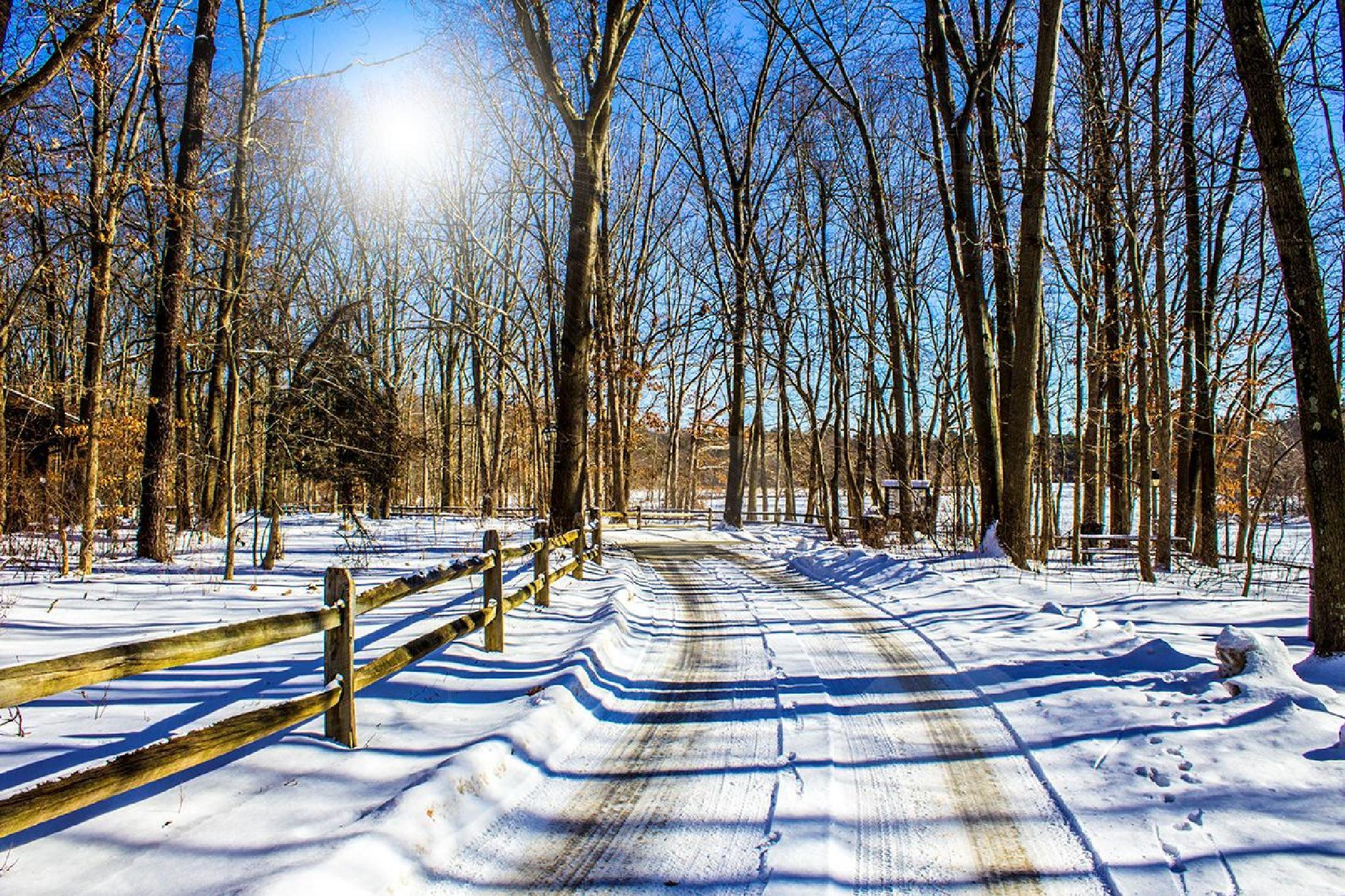 Winter road by Daniel Franklin