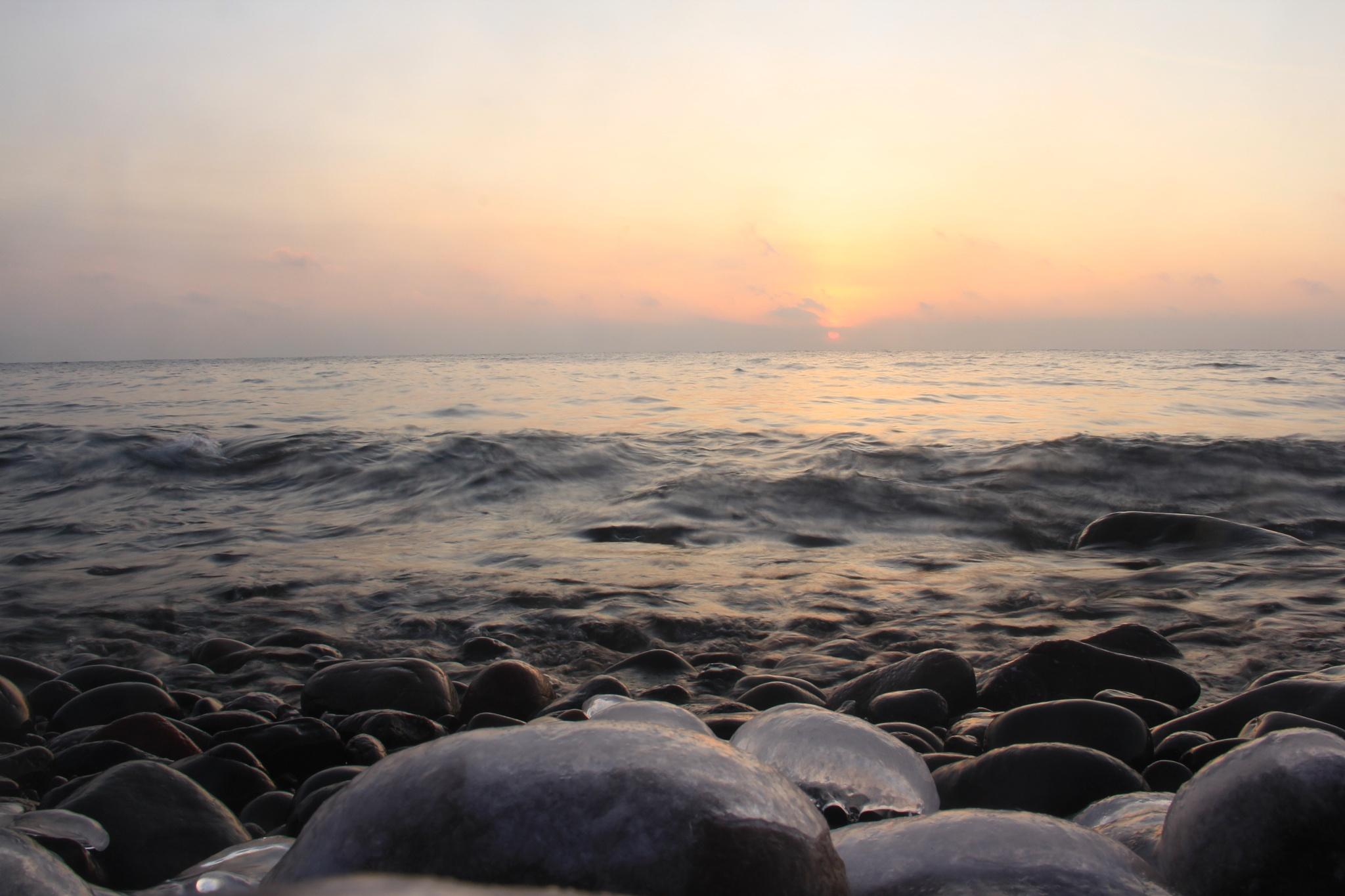 sunrise on lake superior by matthew.pastick