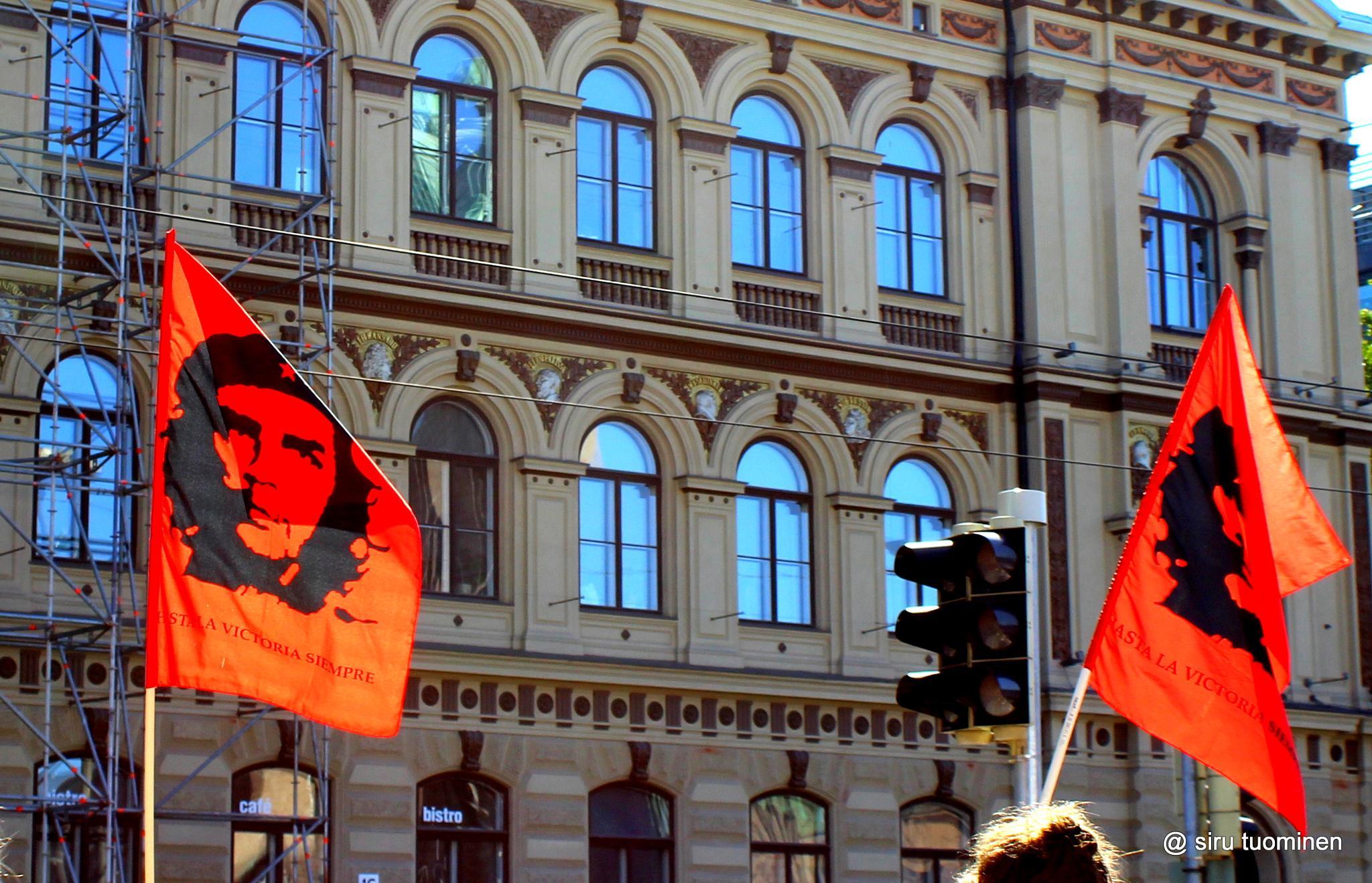 a demonstration today in Helsinki by siru tuominen