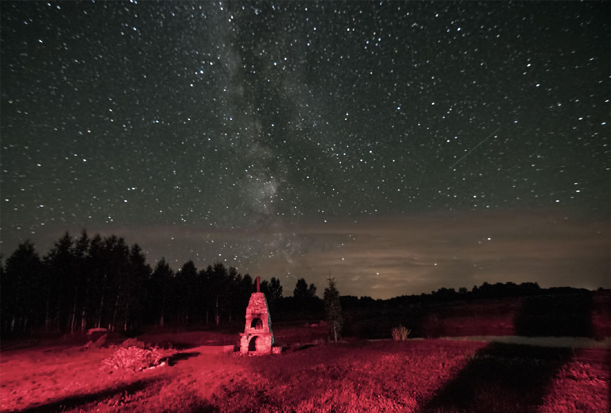Stars trail by Daiva Cirtautė