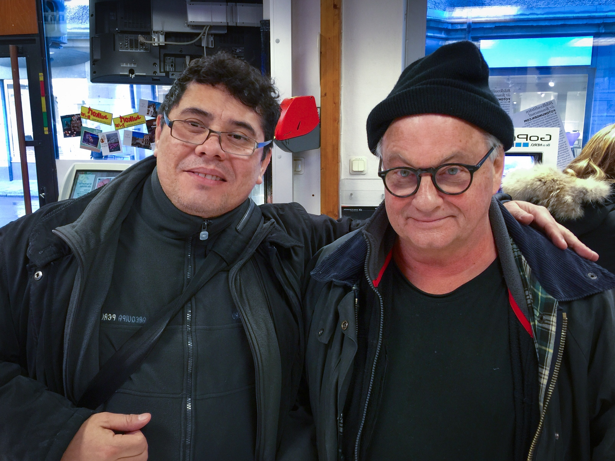 Prof Anders Petersen, Photography World Master, and me by Omar Pinto Diaz