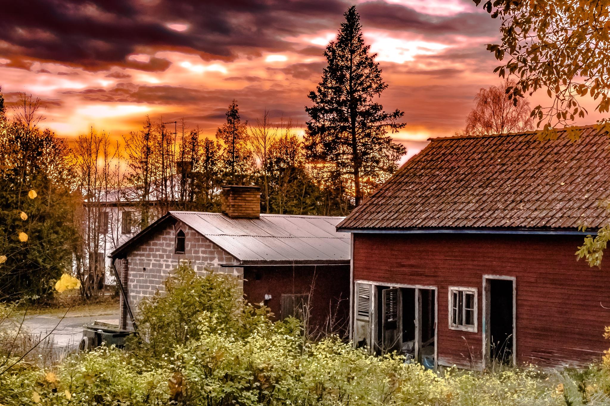 October Countryside Sunset by carljan w carlsson