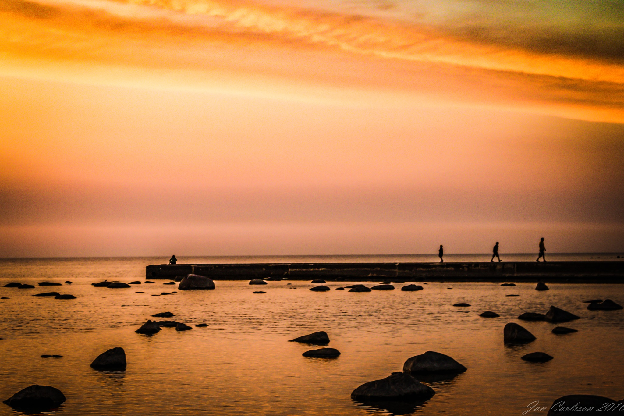 They All Love Sunsets by carljan w carlsson