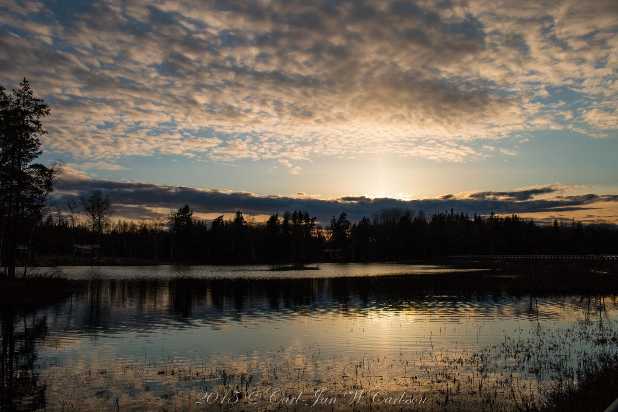 April Evening Sky by carljan w carlsson