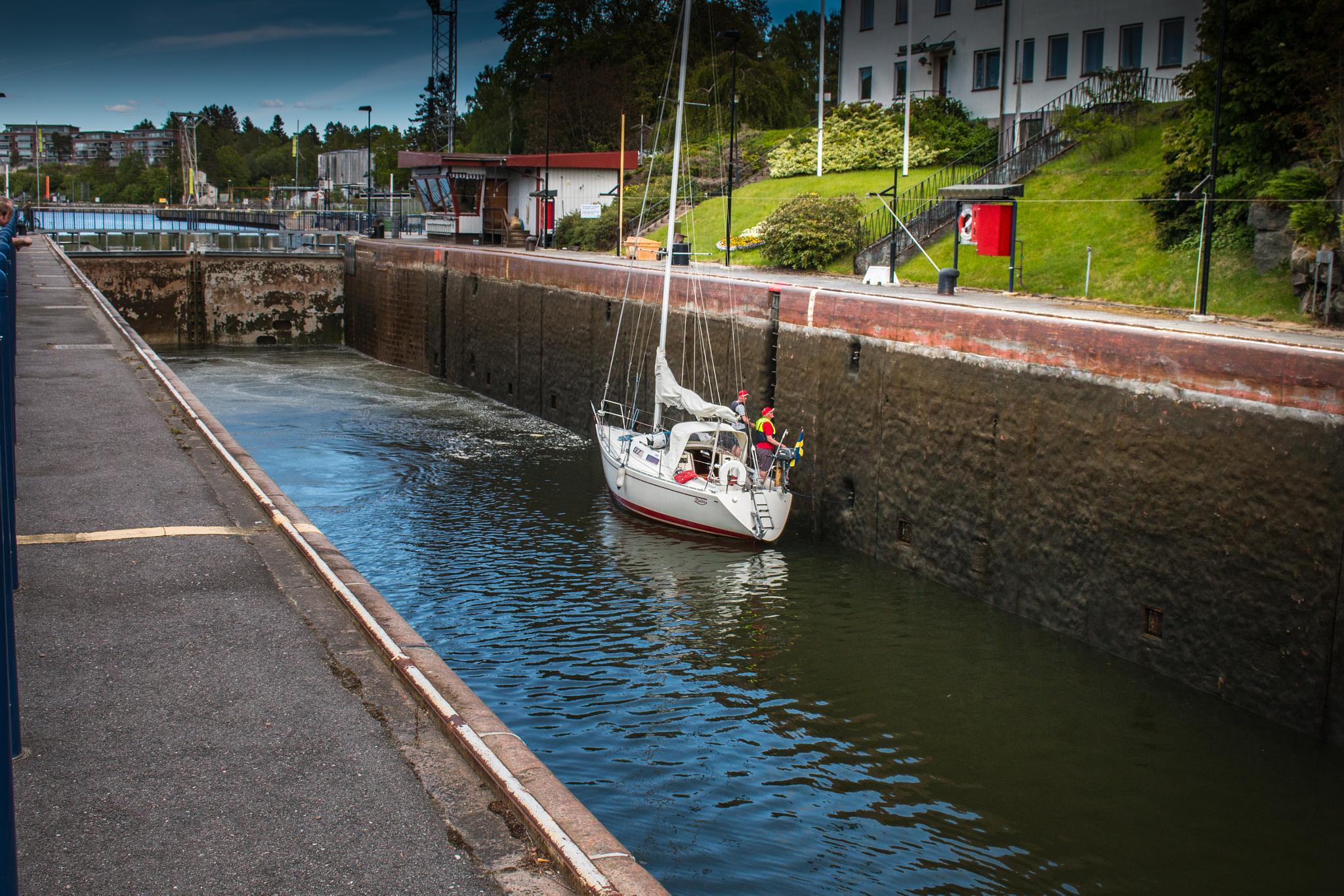 The Gota Canal. The upper locks from 1844 4 by carljan w carlsson