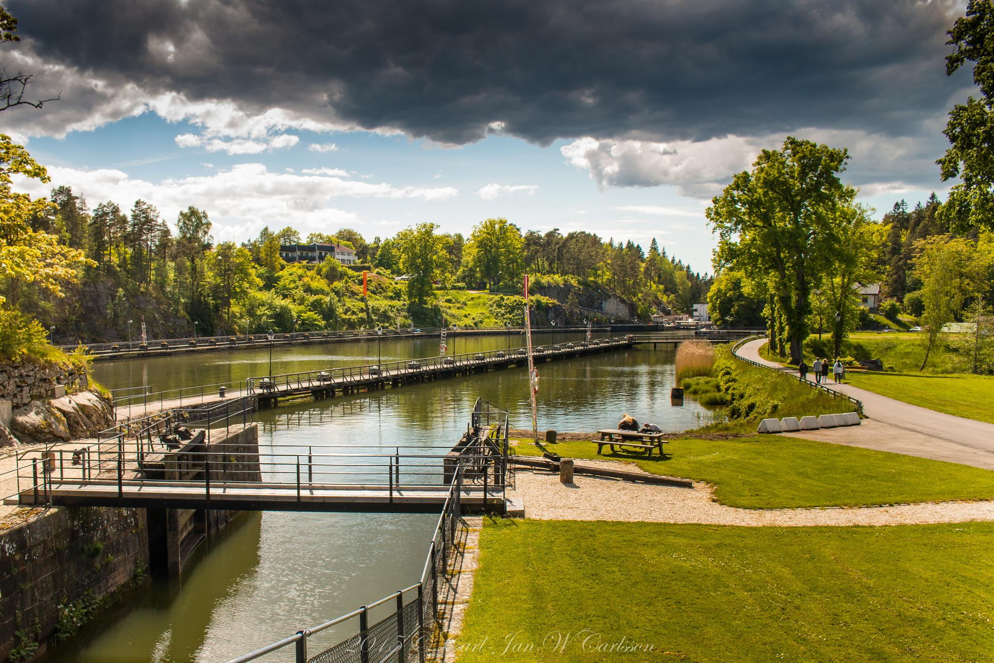 Summer Evening at the Gota Canal 3 by carljan w carlsson