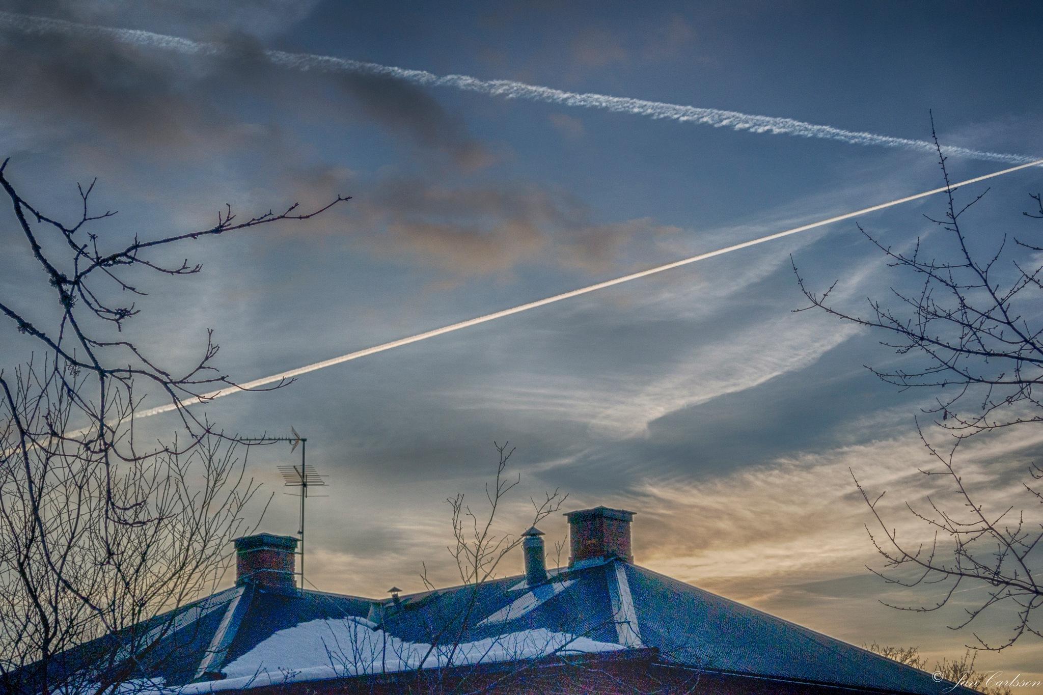March Evening in the Countryside II by carljan w carlsson