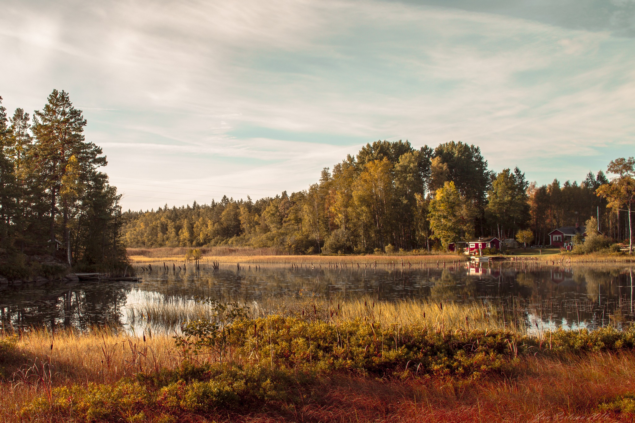 The Beautiful Colors of a September Morning by carljan w carlsson