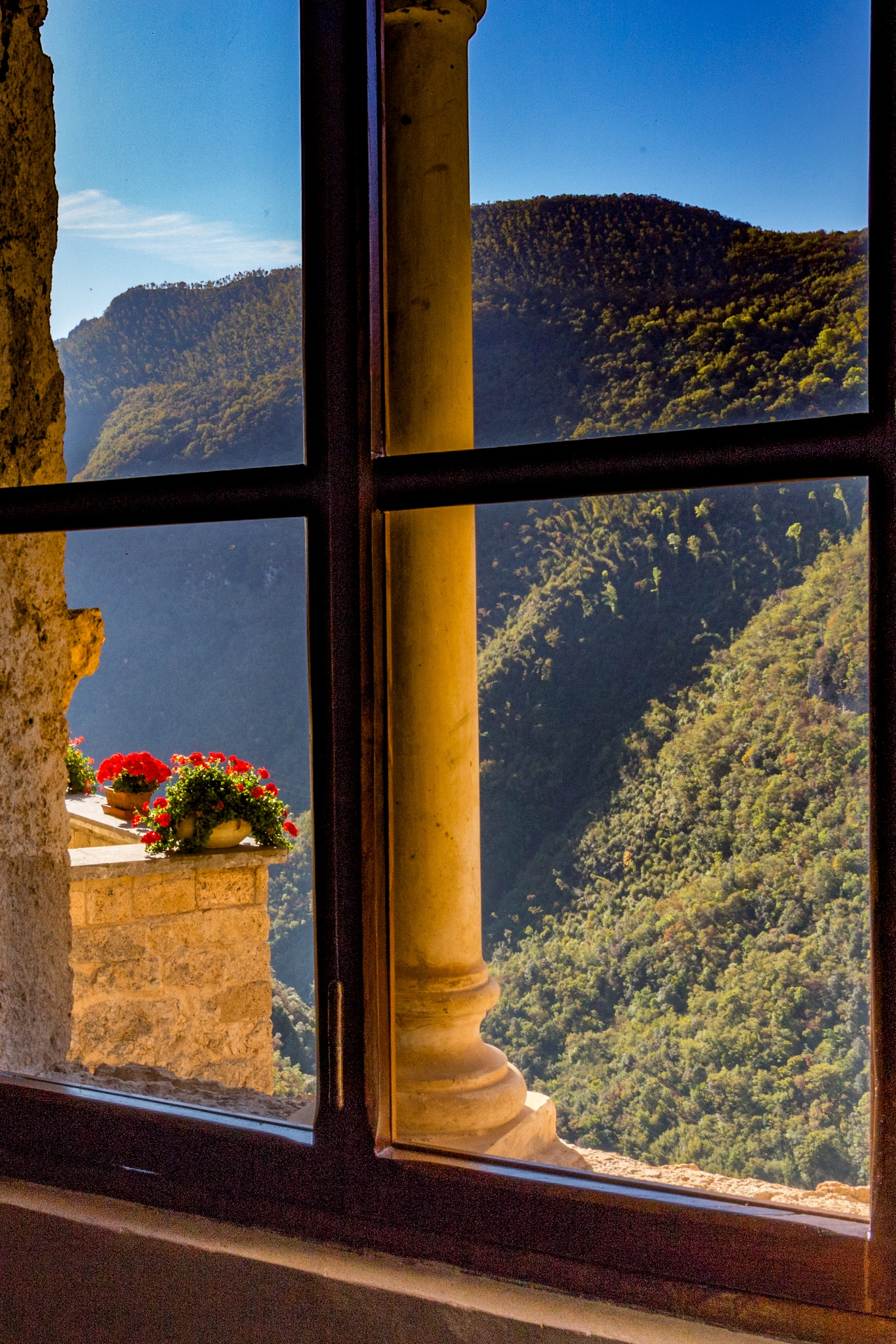 View From a Window in the Monastery in Subiaco by carljan w carlsson