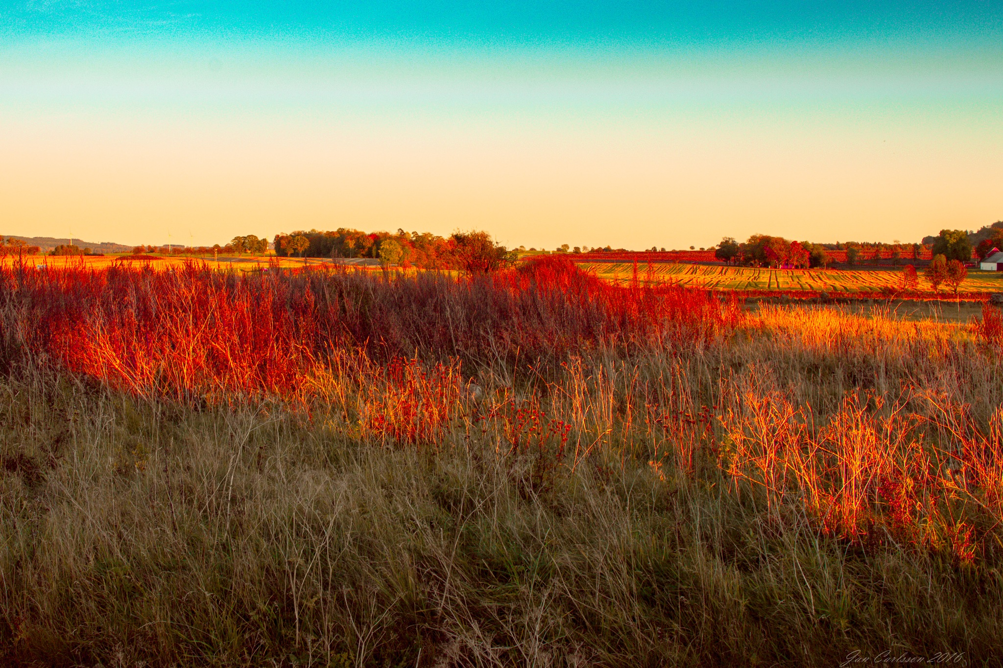 Just Before Sunset in October by carljan w carlsson